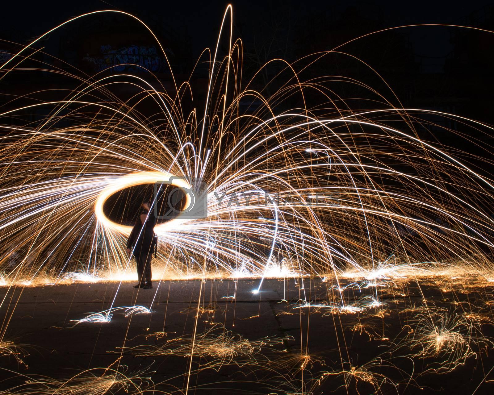 Steel Wool Long Exposure by benwehrman