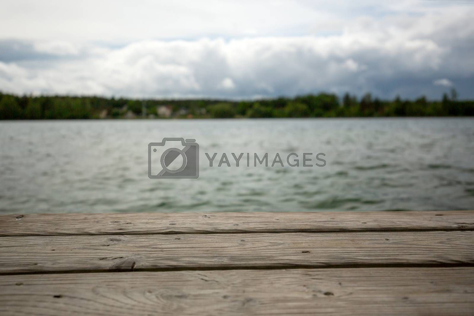View from a jetty at the lake on the sky by Sandra Fotodesign