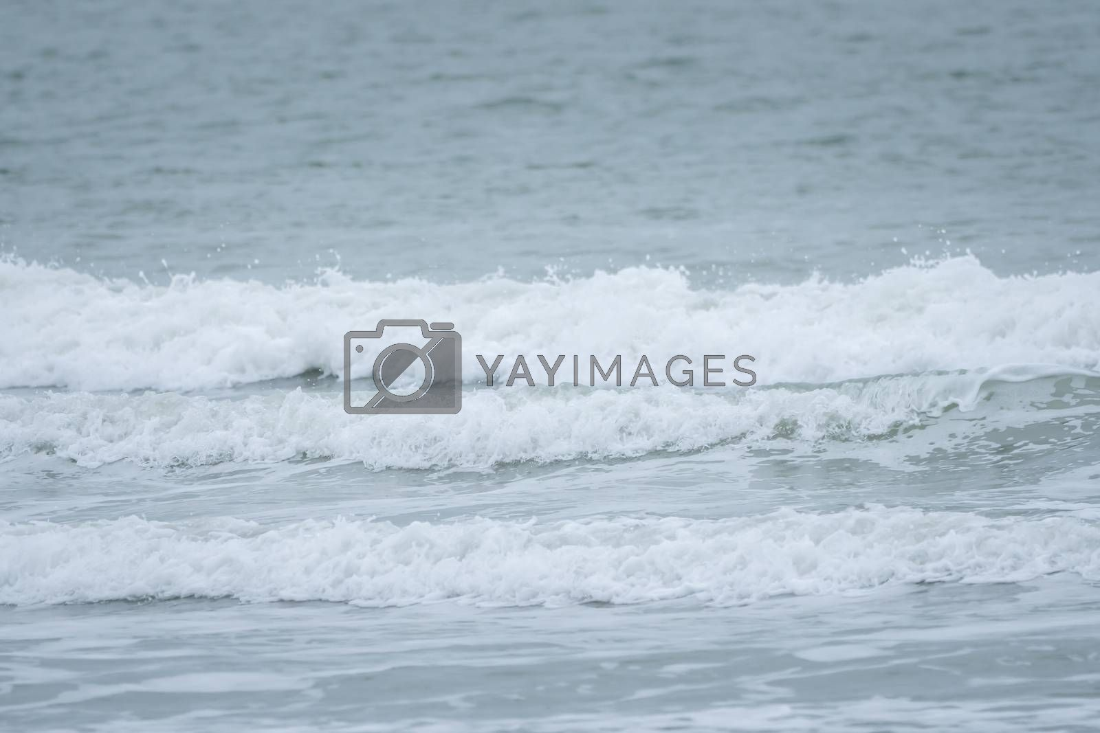 Big waves on the sea, the North Sea in motion by Sandra Fotodesign