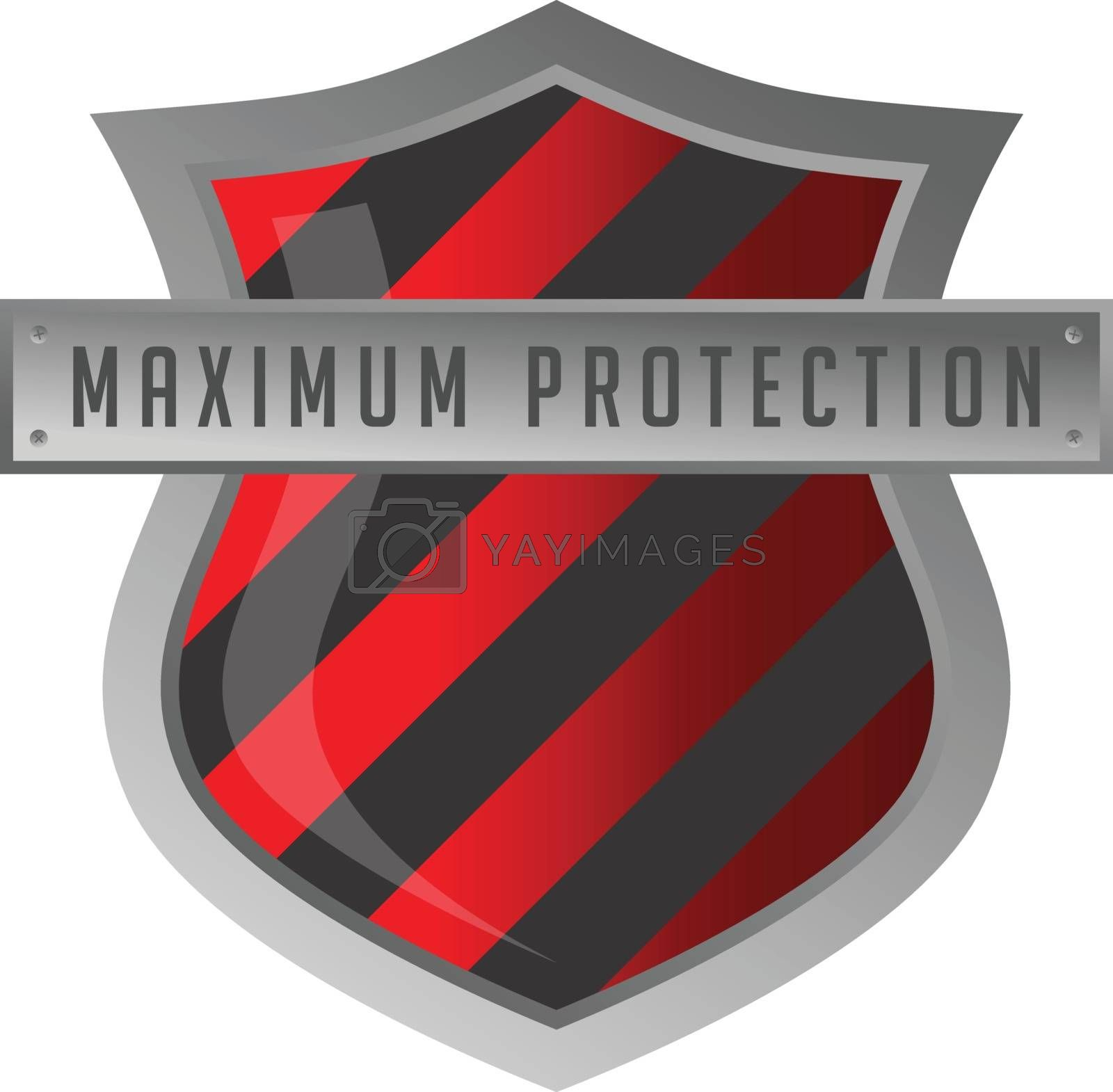 protection shield antivirus sign by vector1st