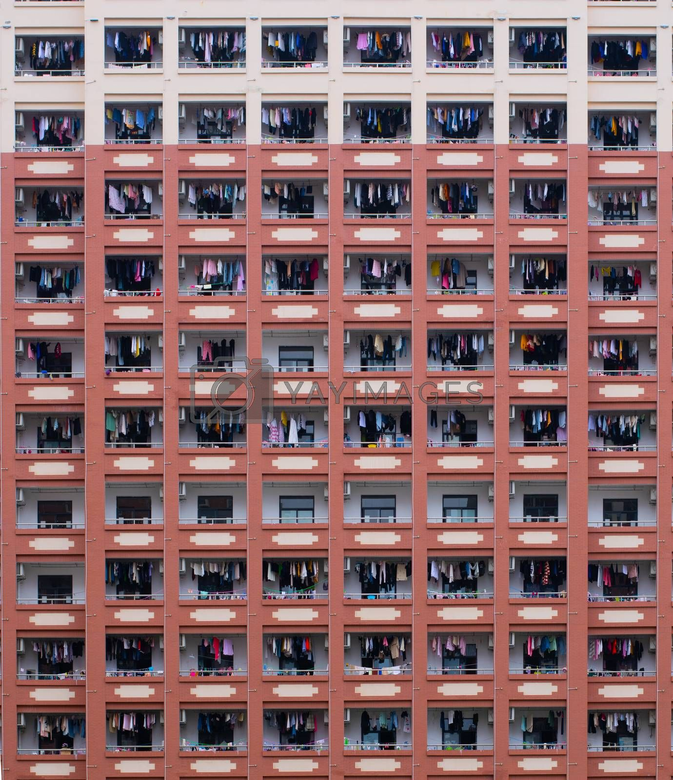 Crowded apartment building by benwehrman