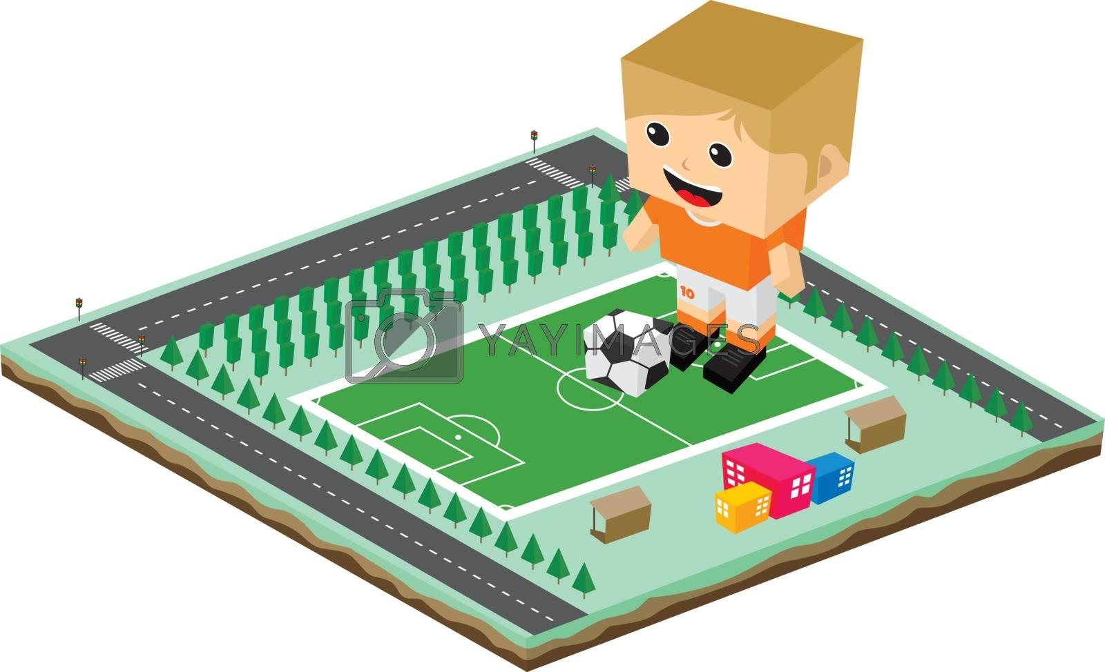soccer league player cartoon by vector1st