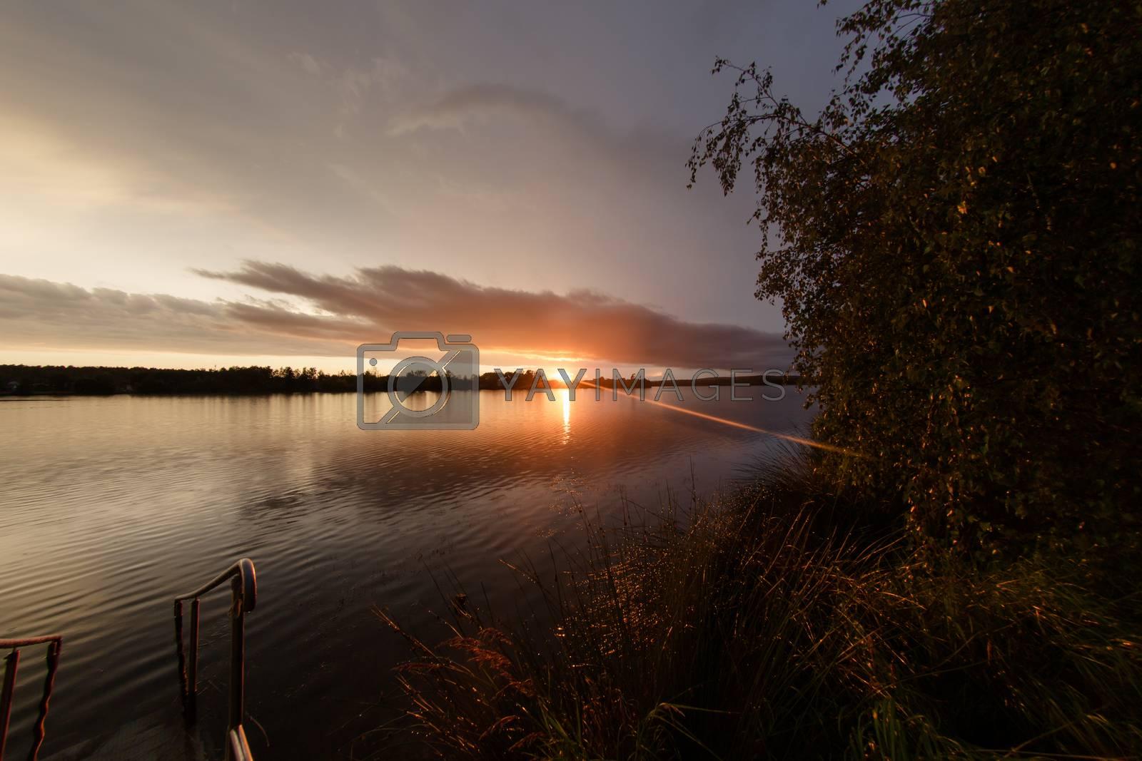 Landscape at the Murner lake, Wackersdorf, Bavaria by Sandra Fotodesign