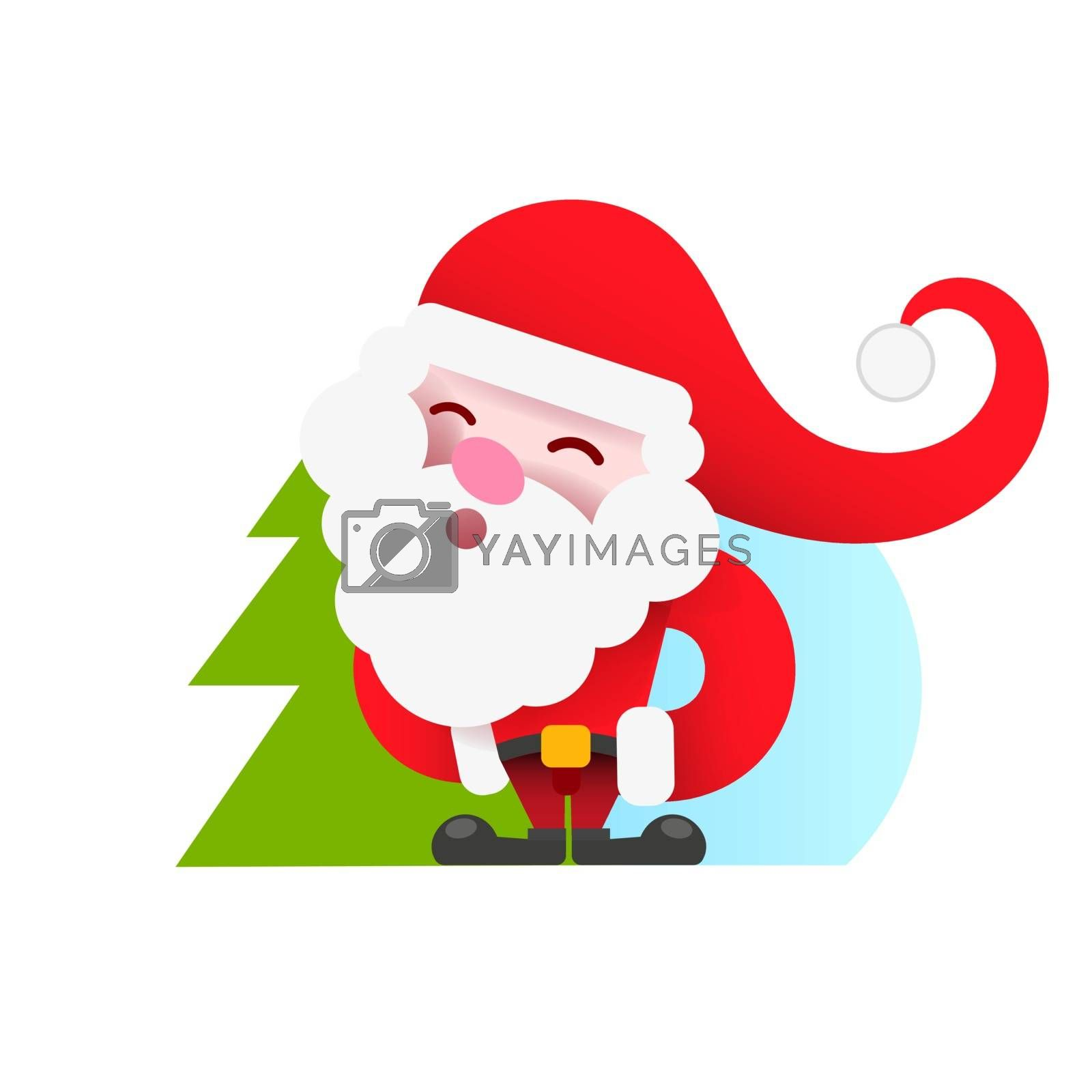 Vintage Santa logo for your design and needs. Vector illustration. by brylov