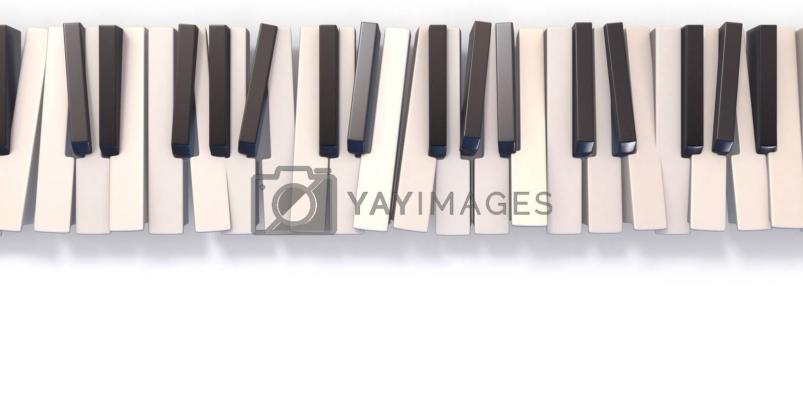 Unordered abstract piano keyboard 3D by djmilic