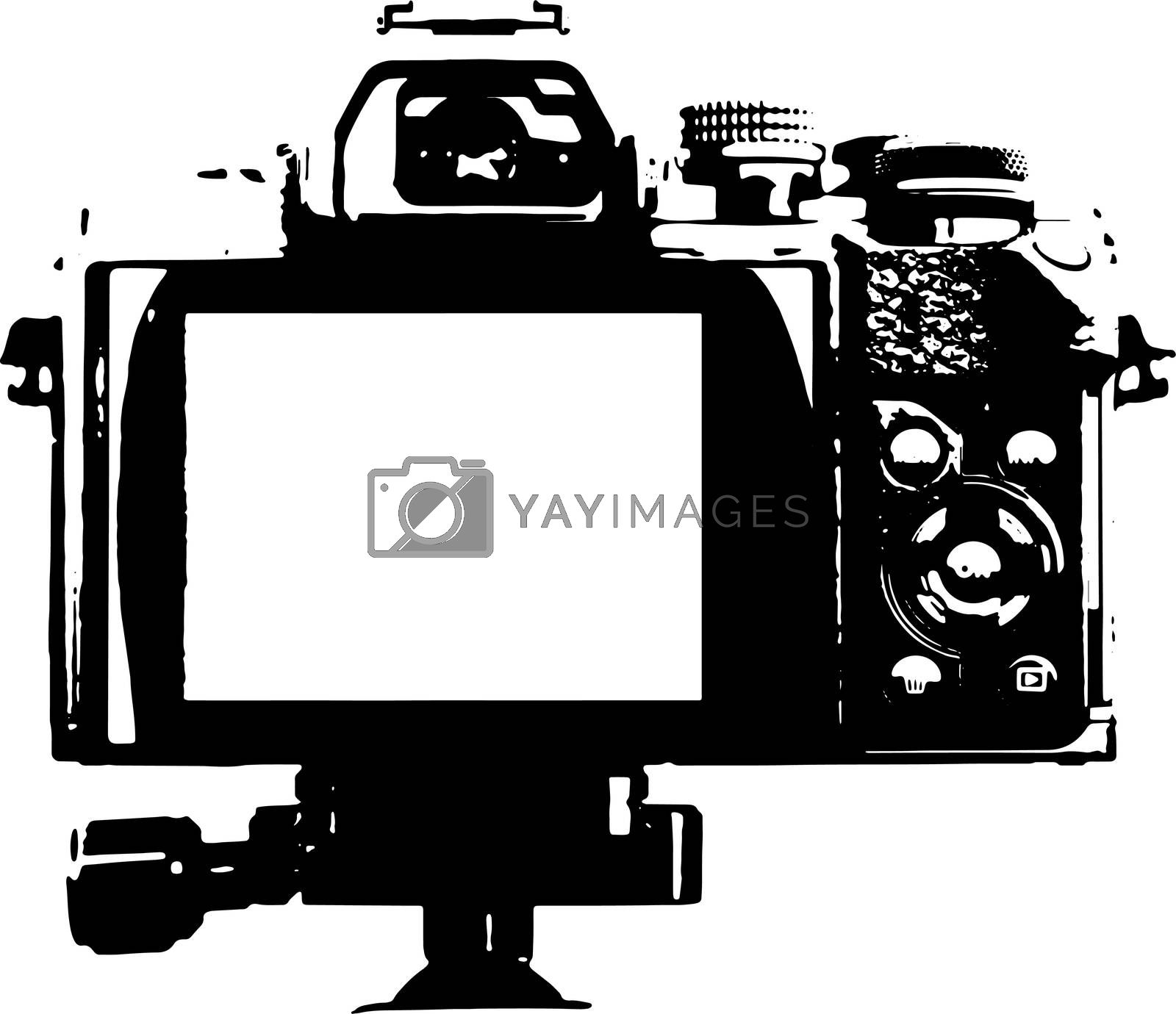 Back of a camera - Illustration