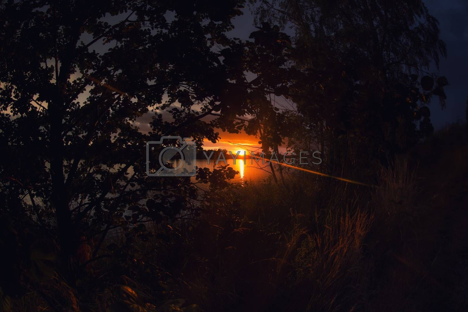 Sunset at Lake Murner, Wackersdorf Bavaria