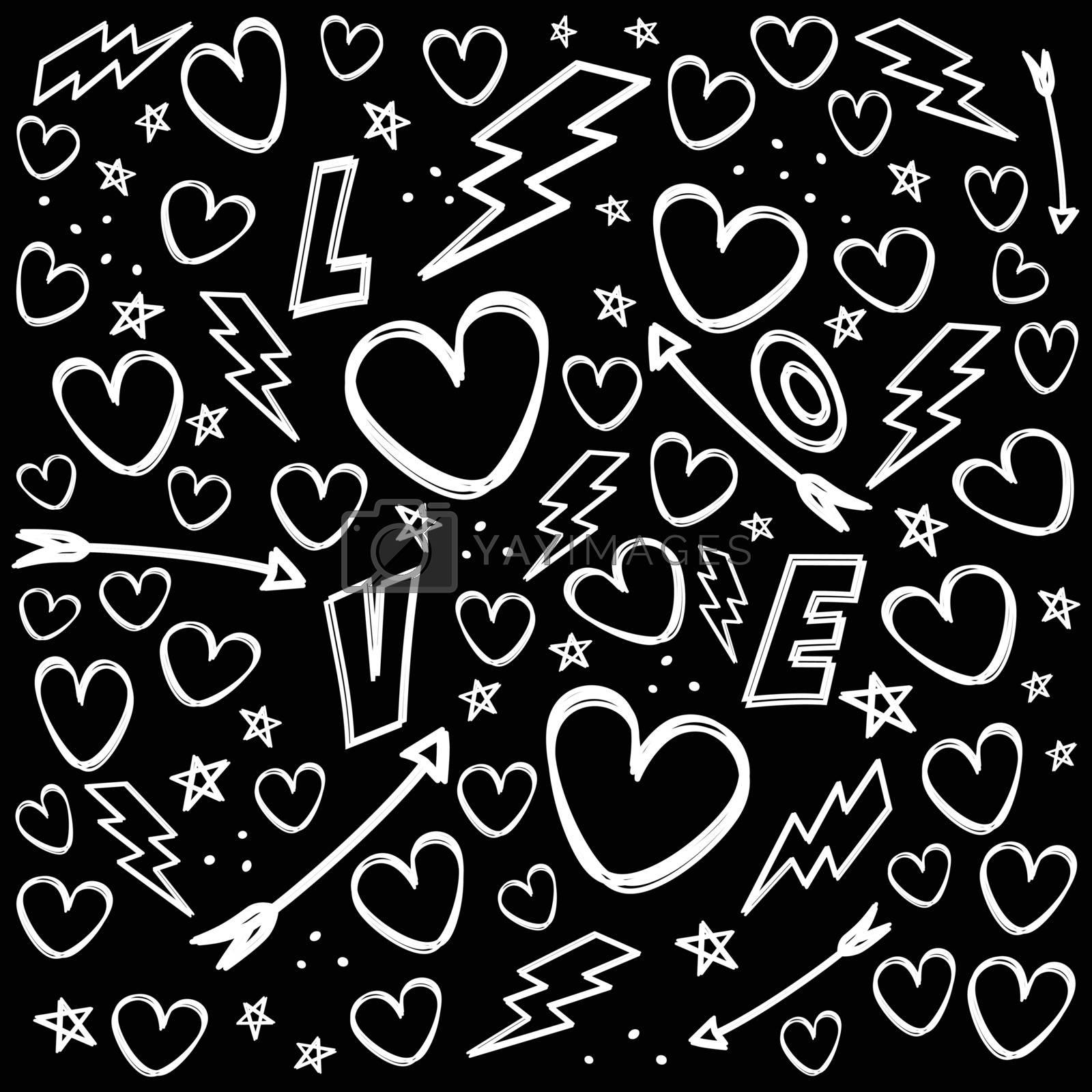 romance theme vanlentines day vector art illustration
