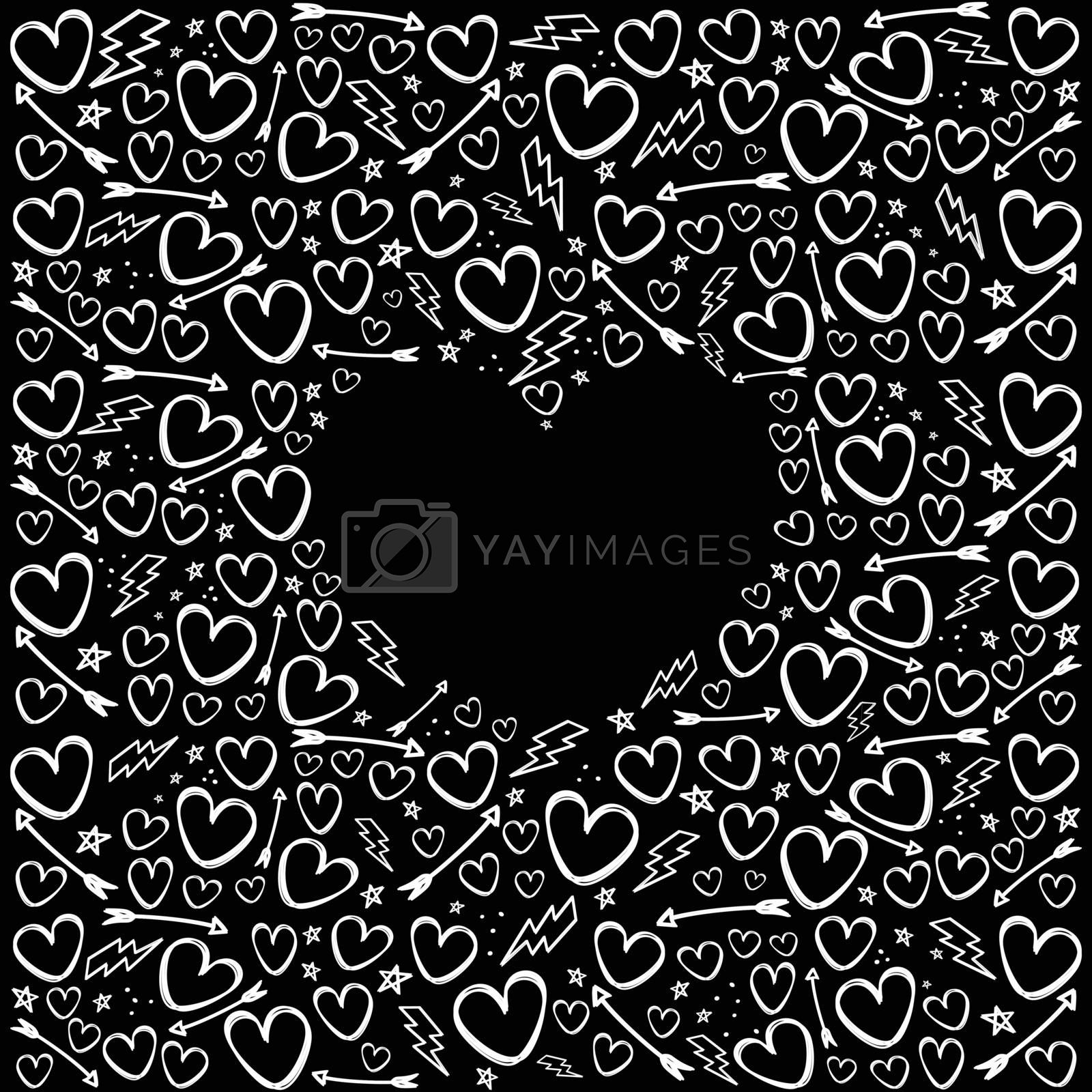 romance theme vanlentines day vector art illustration