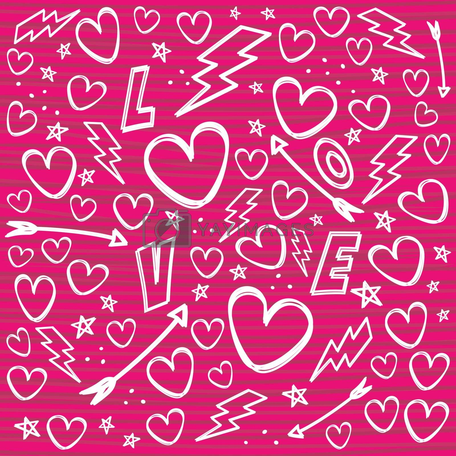romance theme vanlentines day by vector1st