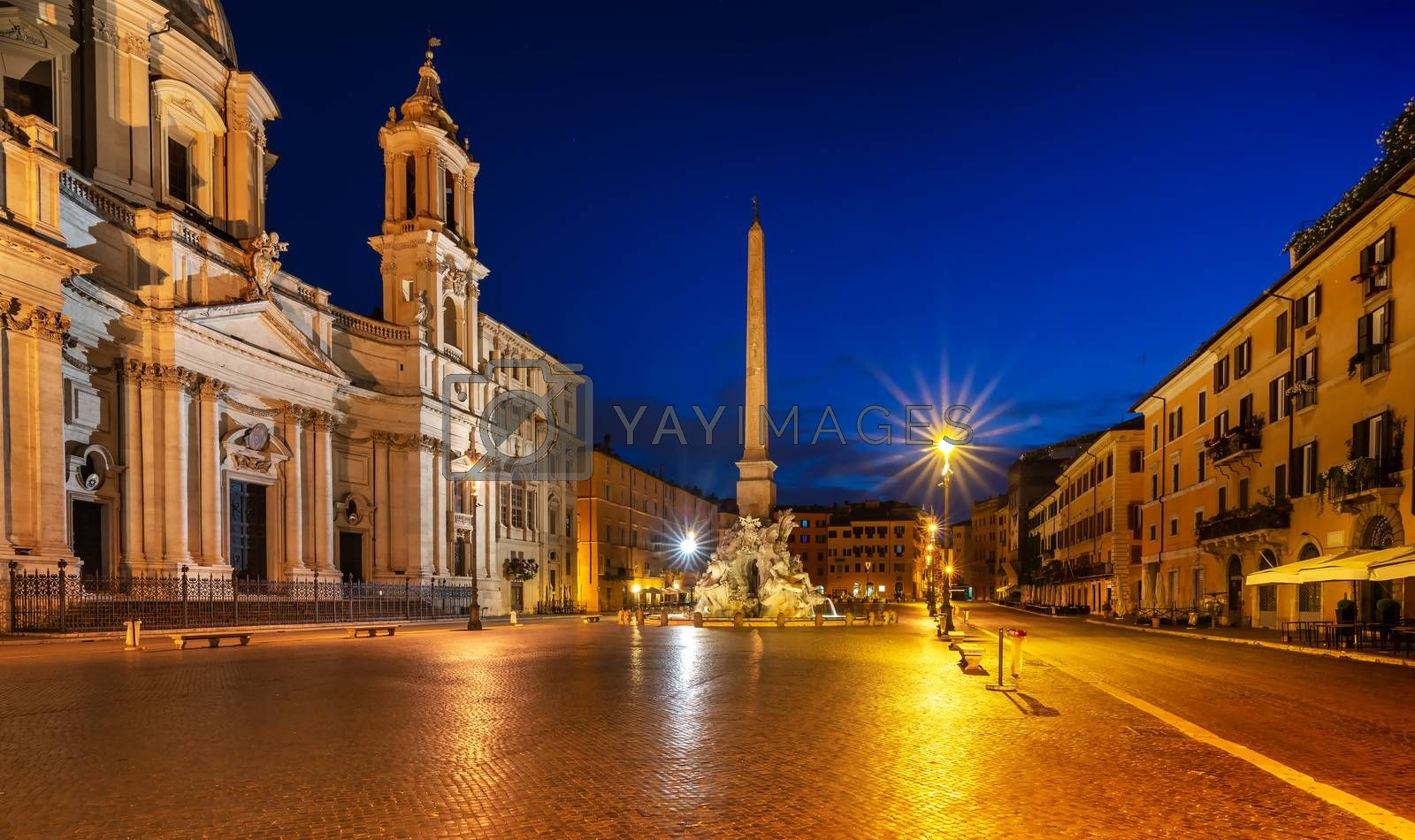 Piazza Navona in Italy by Givaga