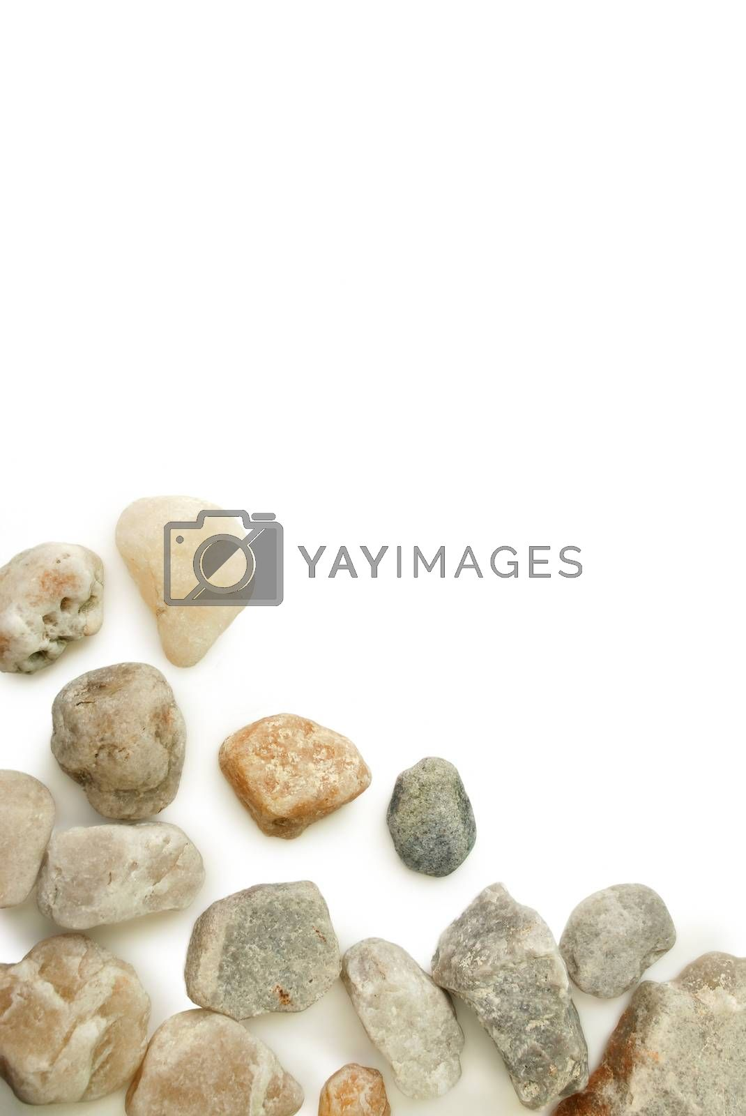 Stone stream.With Clipping Path. by thitimon