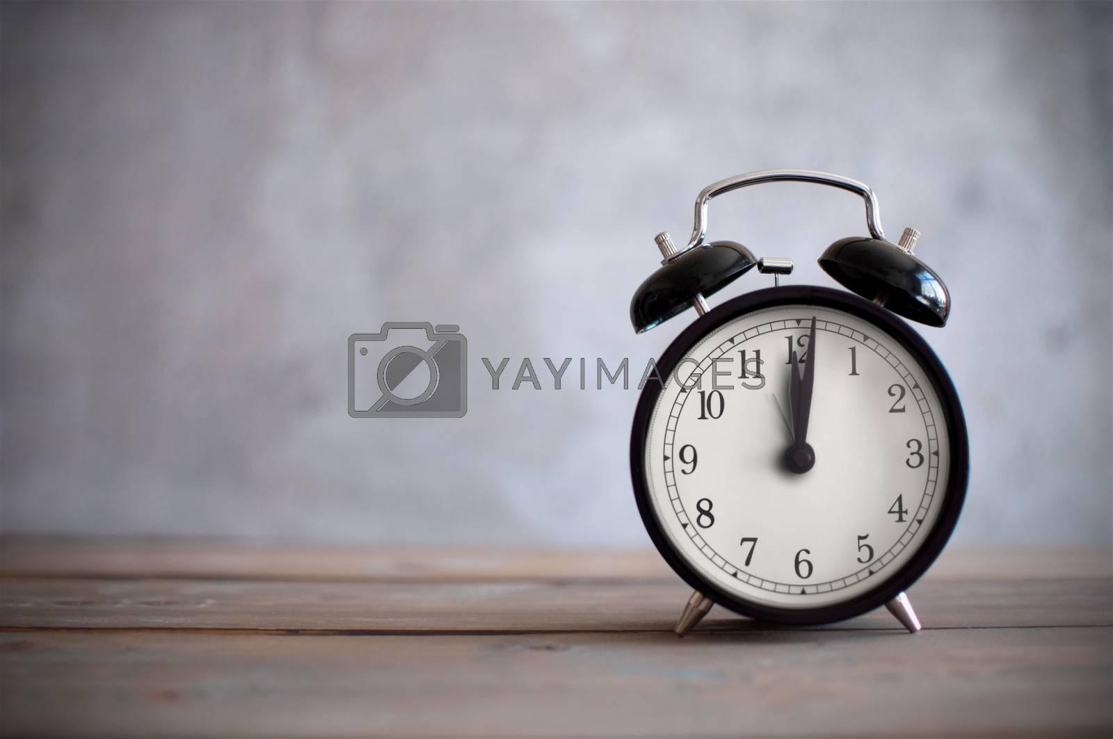 Royalty free image of Alarm clock background by unikpix
