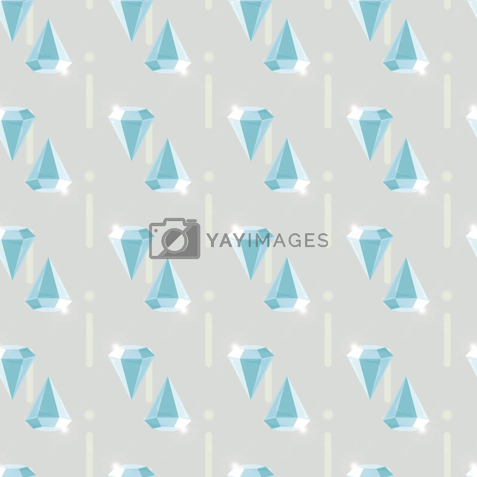 Abstract vector glamour fashion diamond seamless background 10 eps