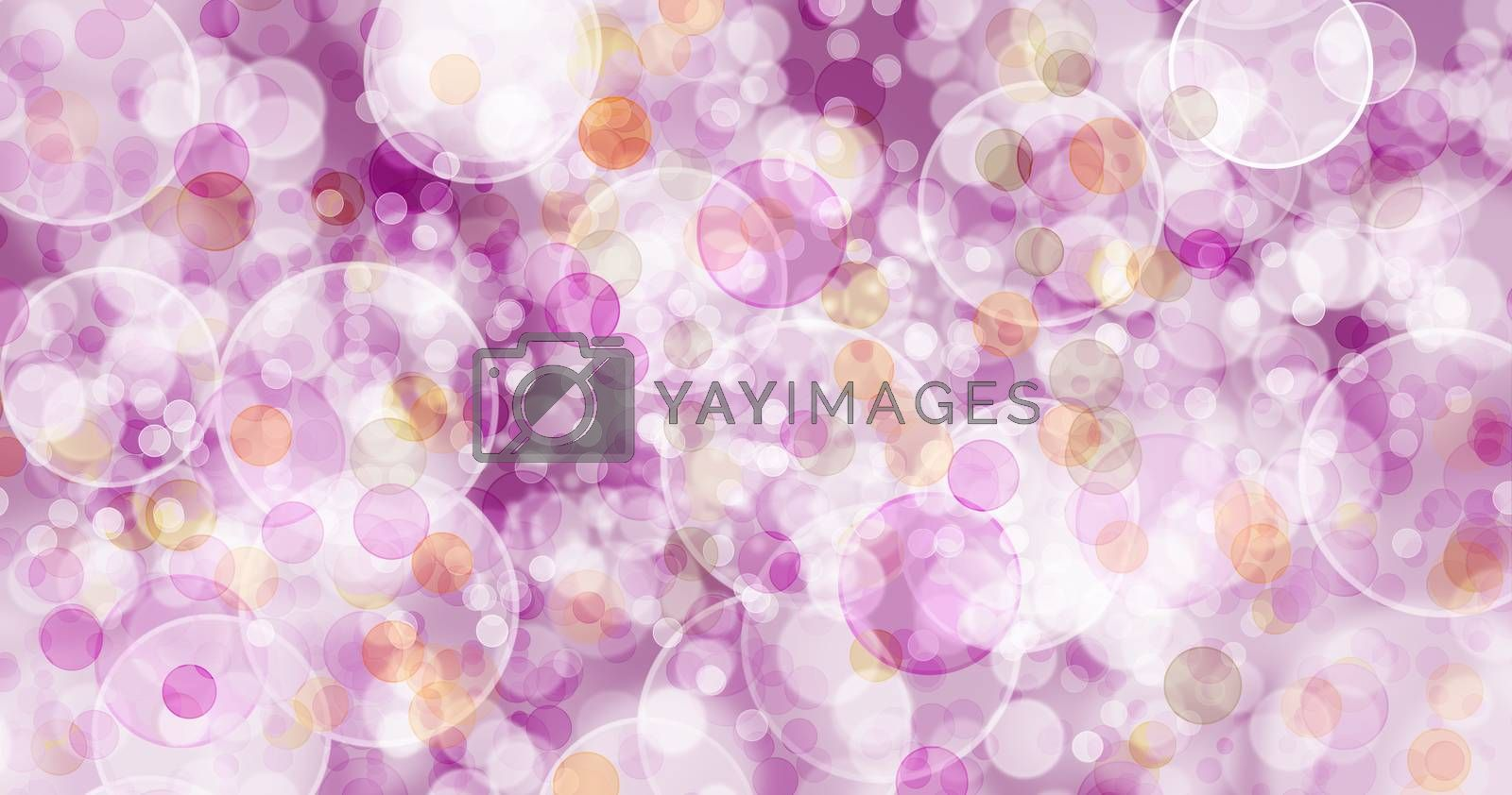 Background with a light pink and red bubbles. by thitimon