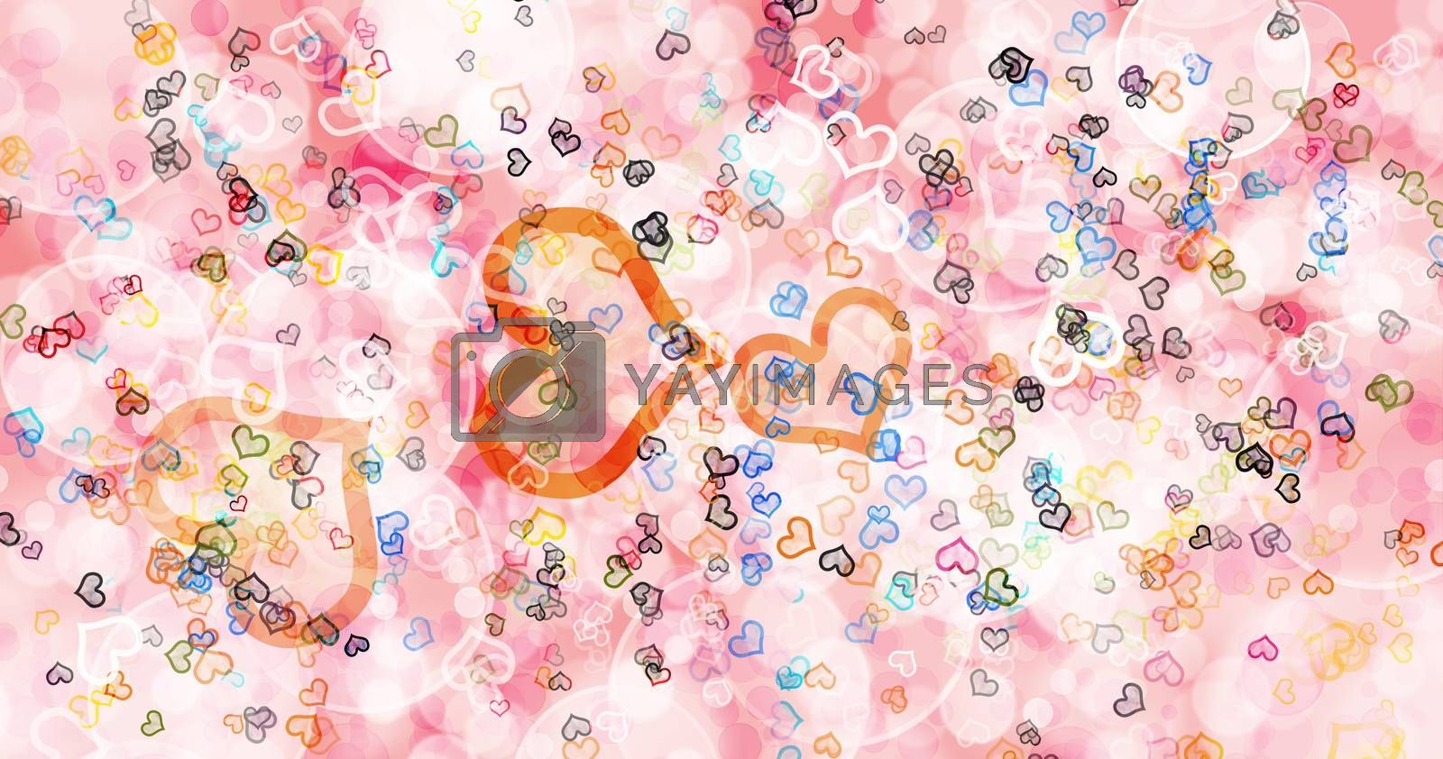 Pink mixed with light colors background.The bubbles float to look bright and gentle.Used for general background work.