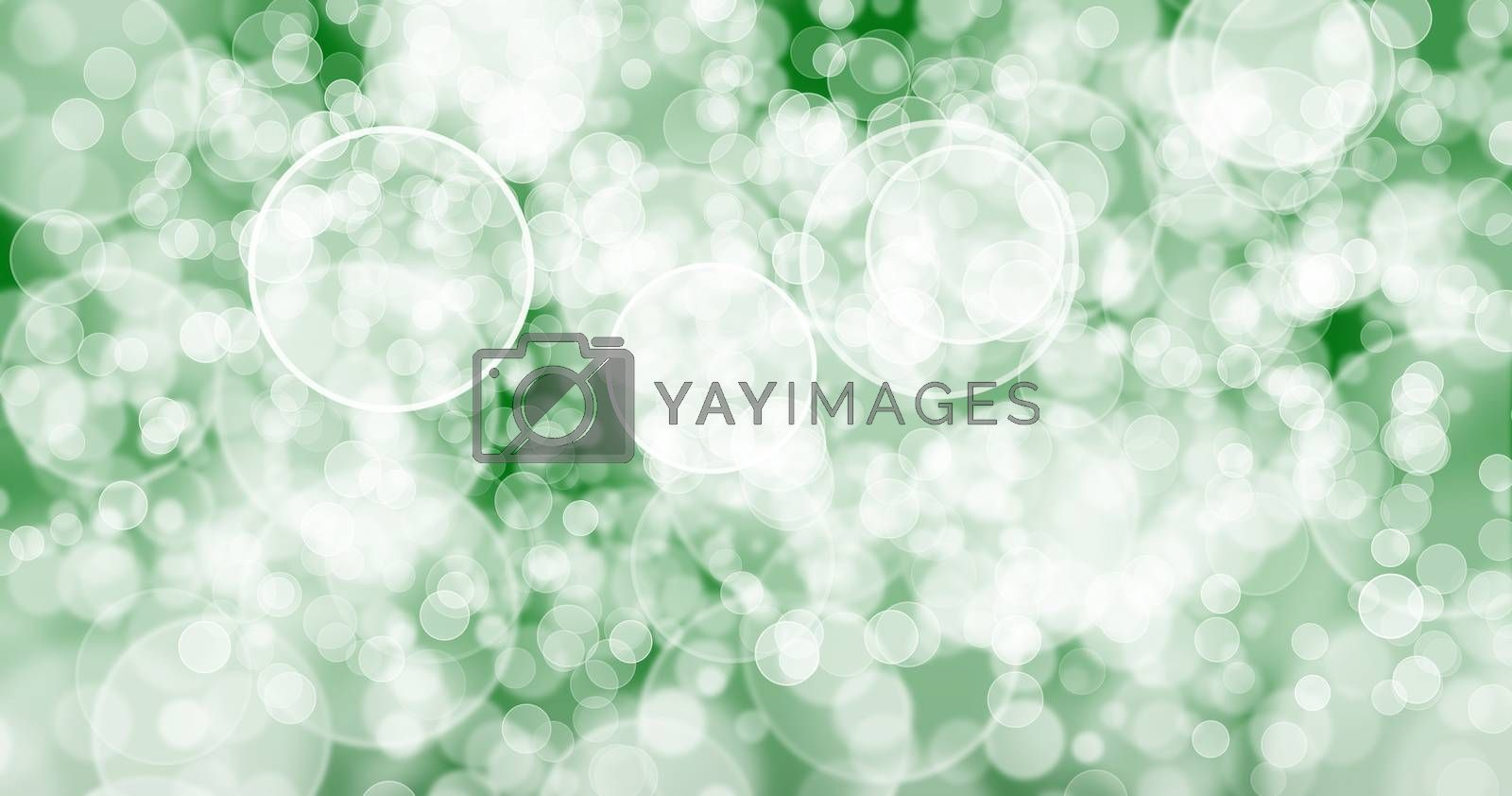 The background has bright green bubbles. by thitimon