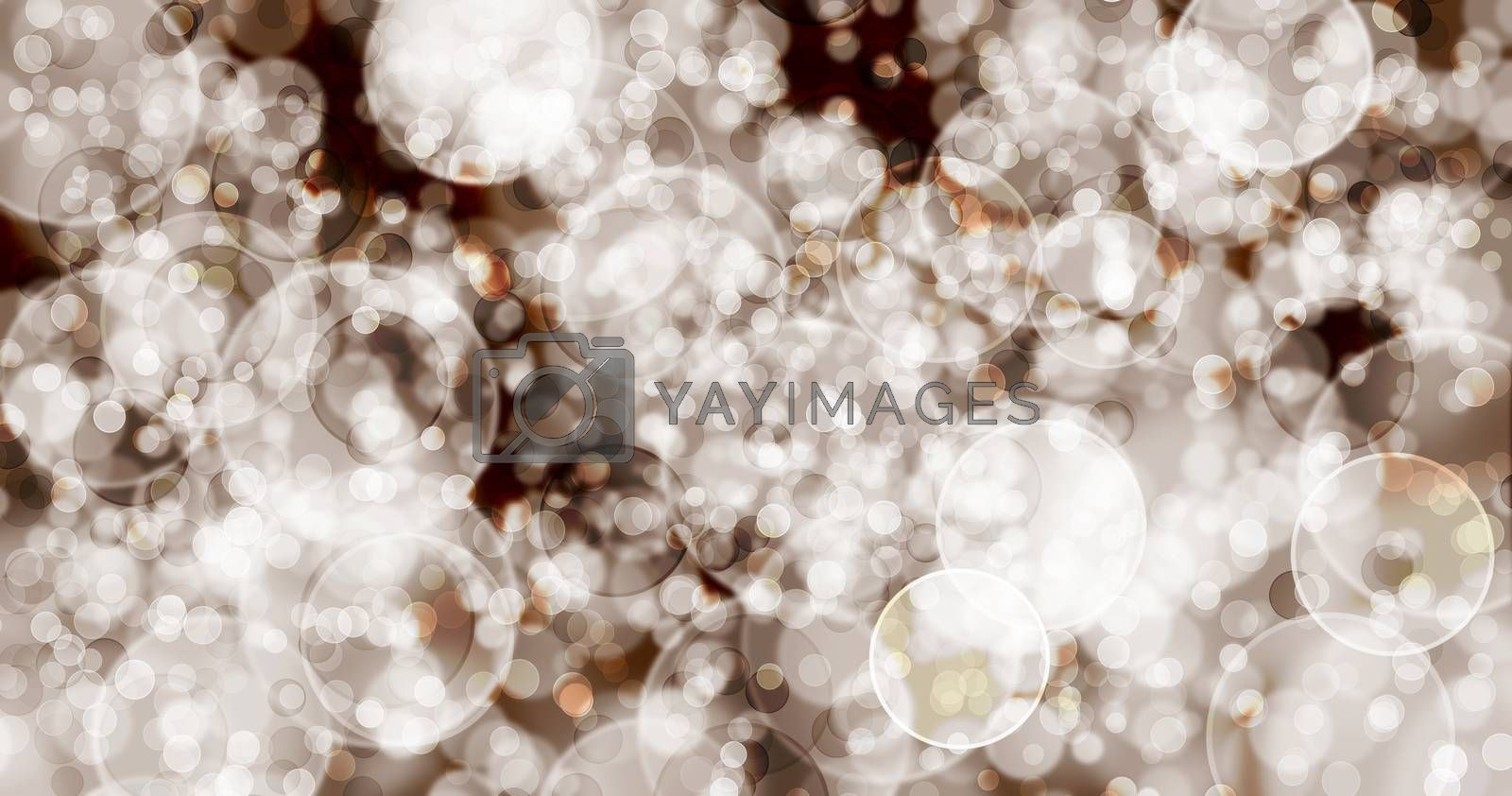 The background has brown bubbles to illuminate. by thitimon