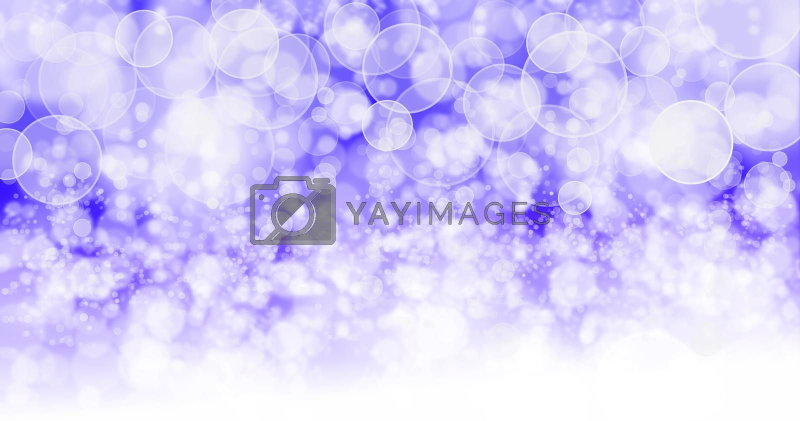 The background has bright purple bubbles. by thitimon