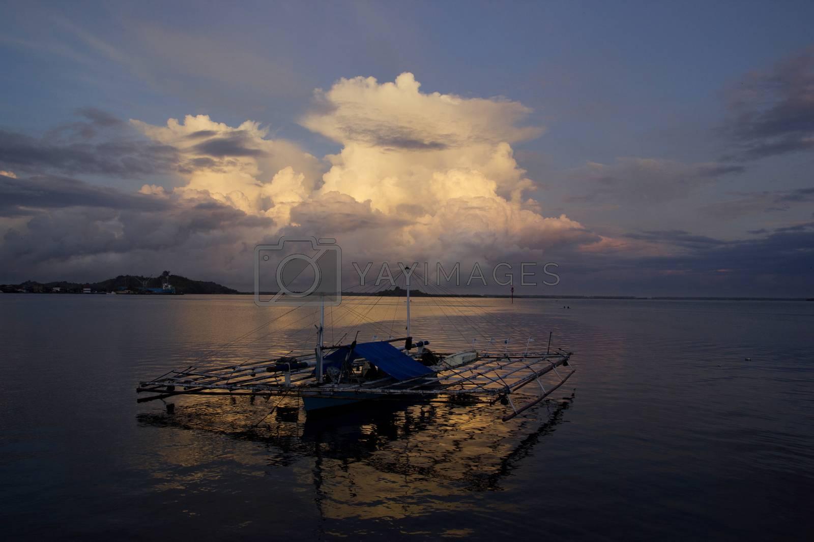 fisherman boat by antonihalim