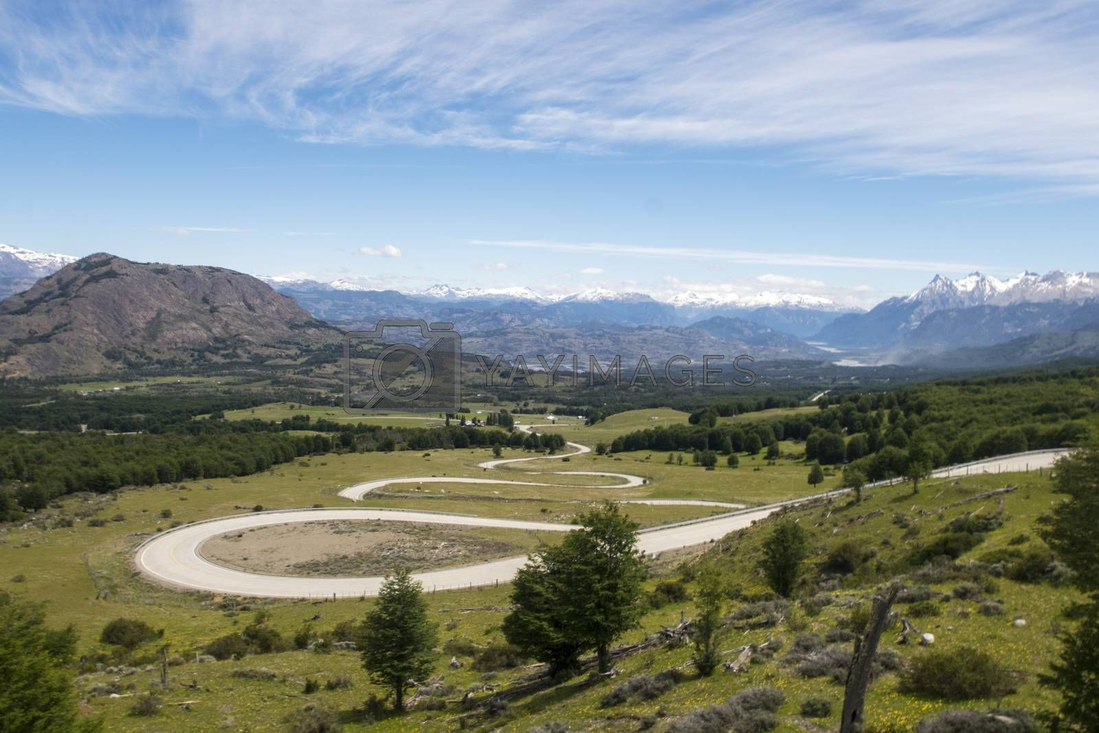 devils bends on the carretera austral  by bernjuer