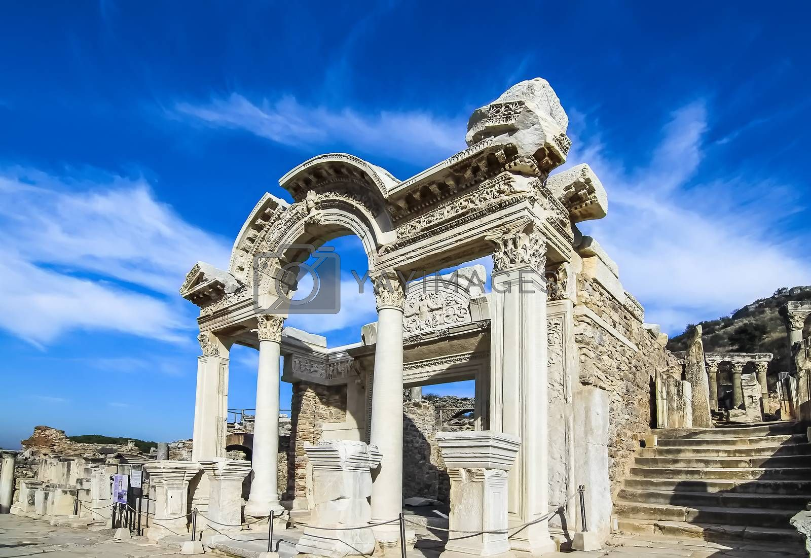 Reconstructed Temple of Hadrian in Ephesus by Julia Chan
