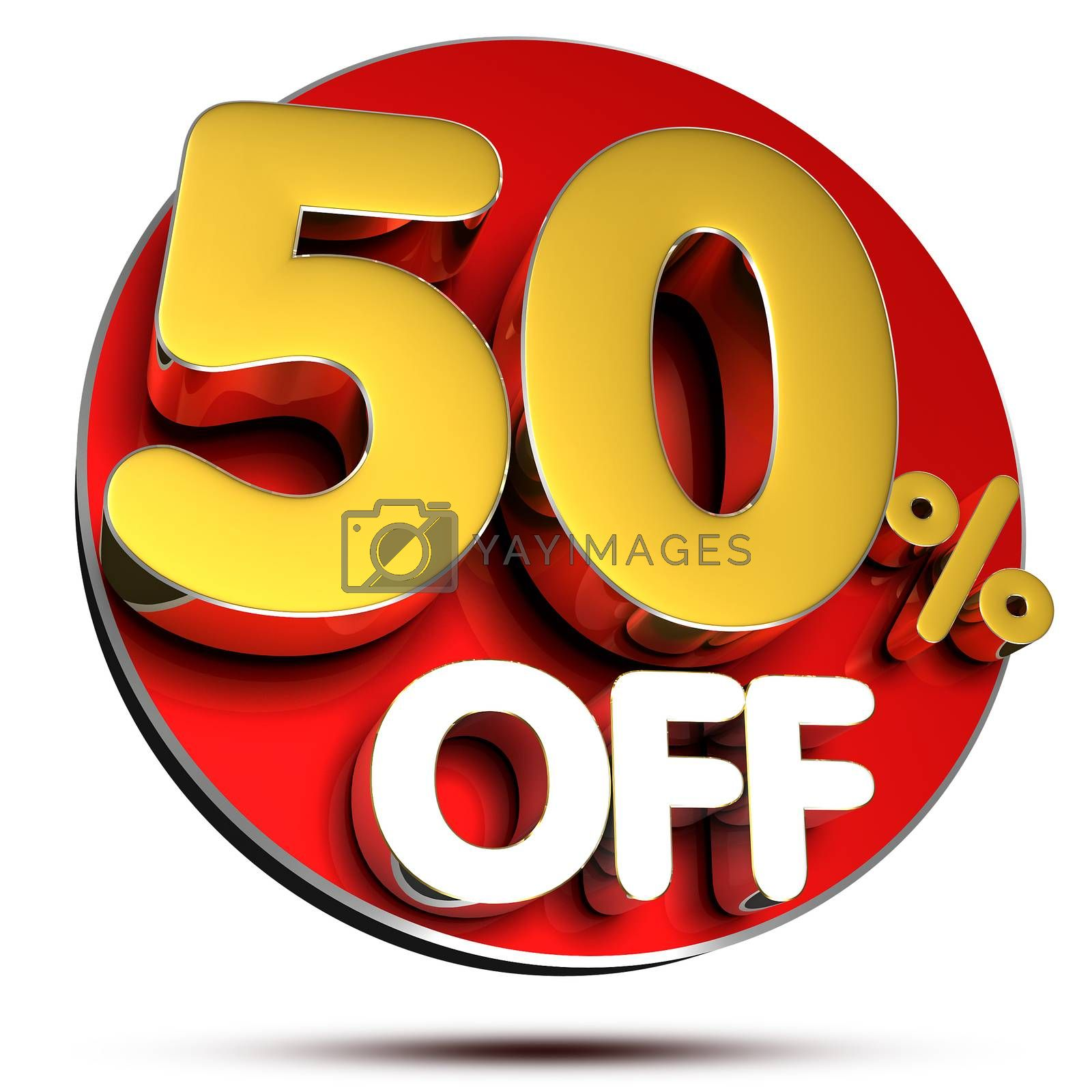 50 percent off 3D. by thitimon