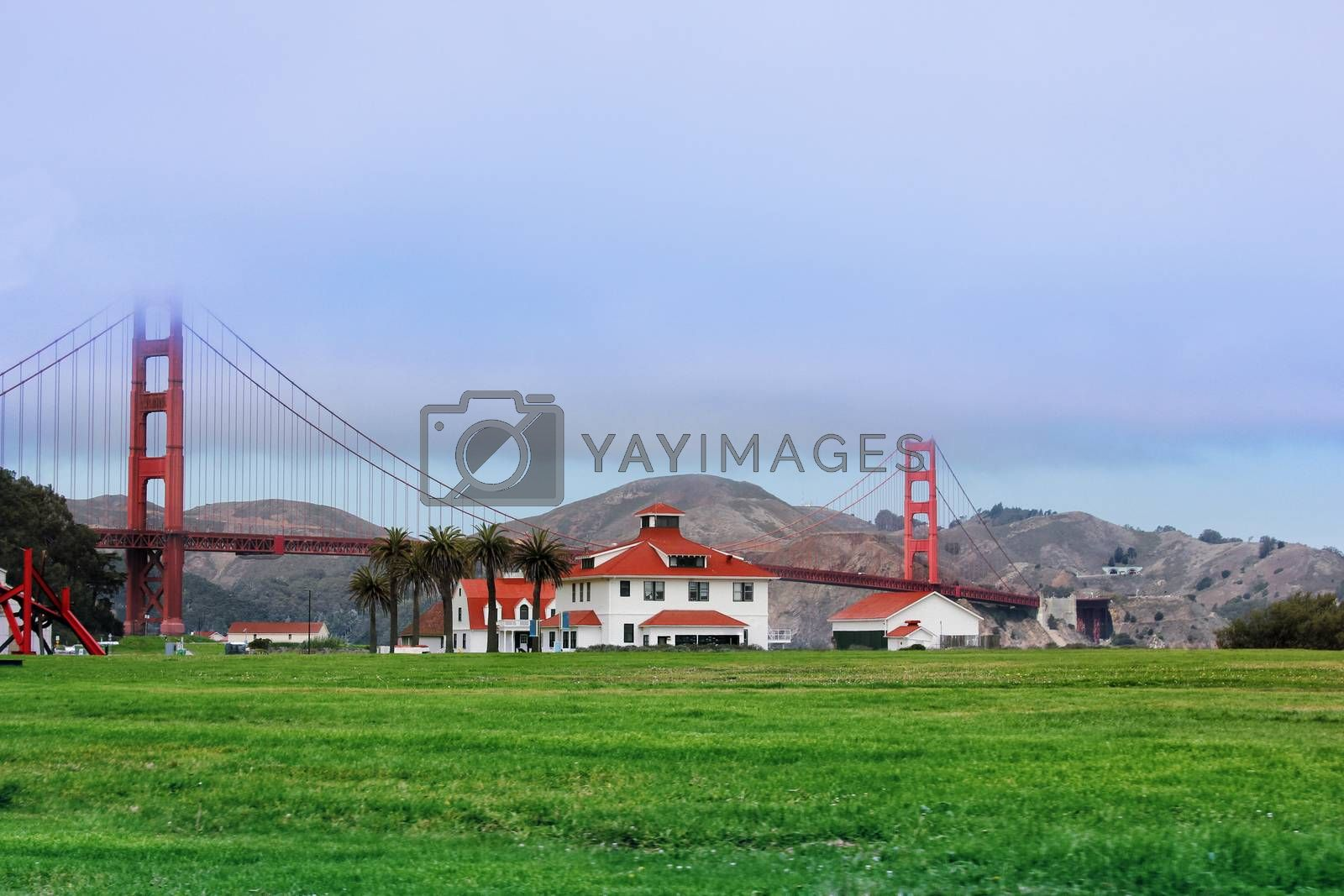 Golden Gate Bridge in San Francisco at sunset by friday