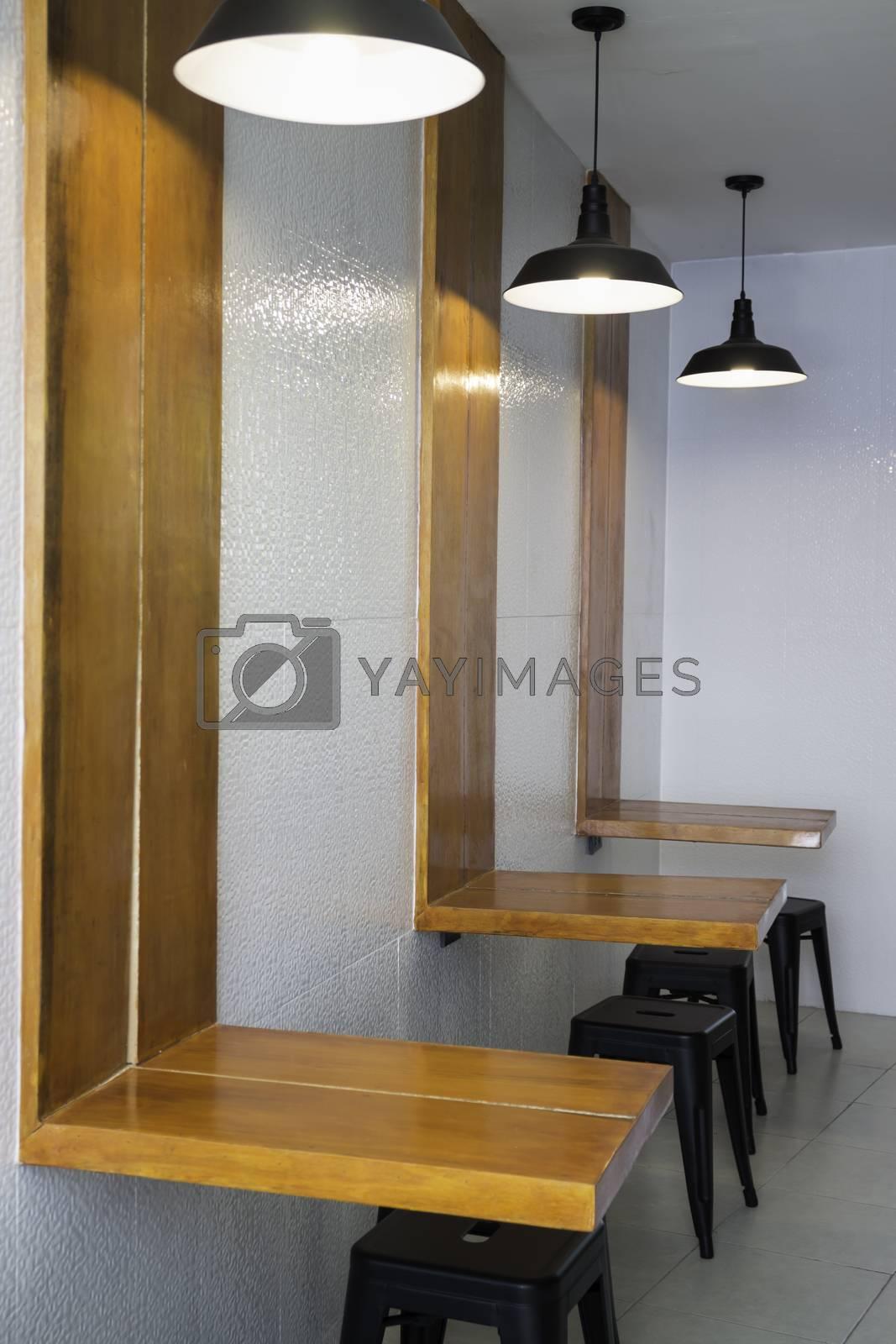 Modern furniture in indy coffee shop by nalinratphi