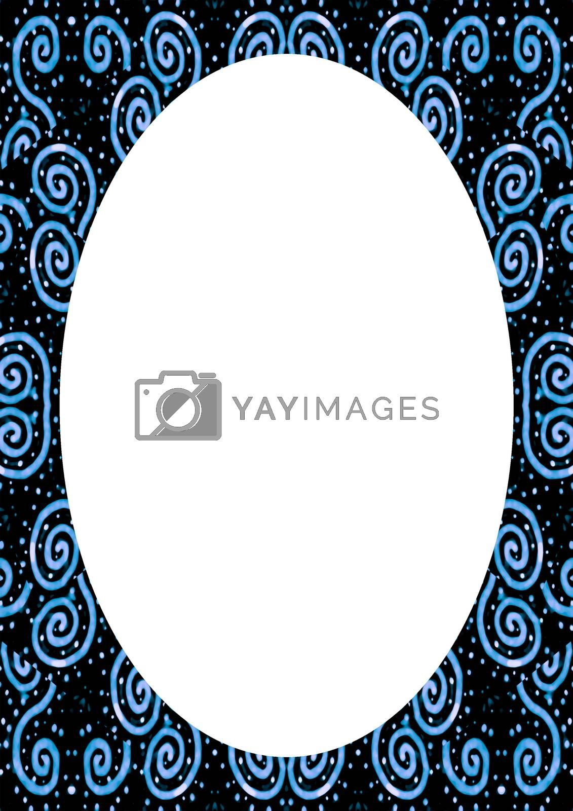 White Background with Decorated Design Rounded Borders by DanFLCreative