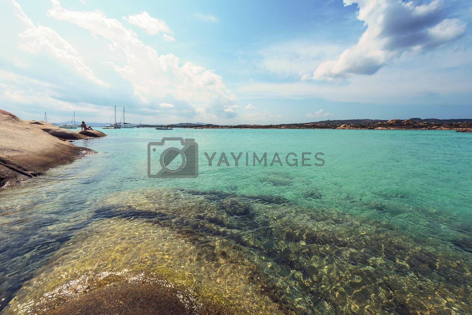 Turquoise waters of the beaches of Sardinia by raulmellado