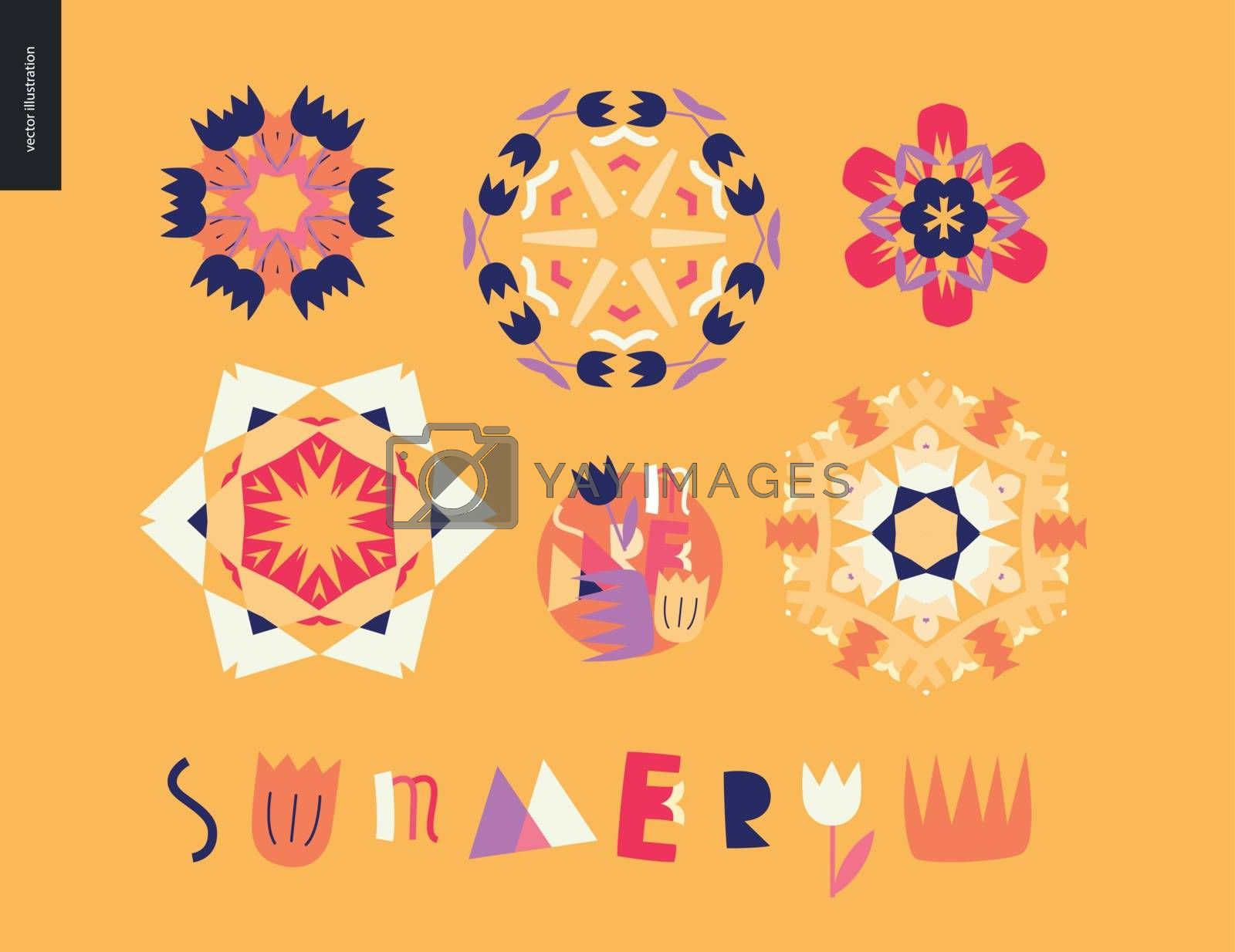 Summer kaleidoscopic patterns by grivina