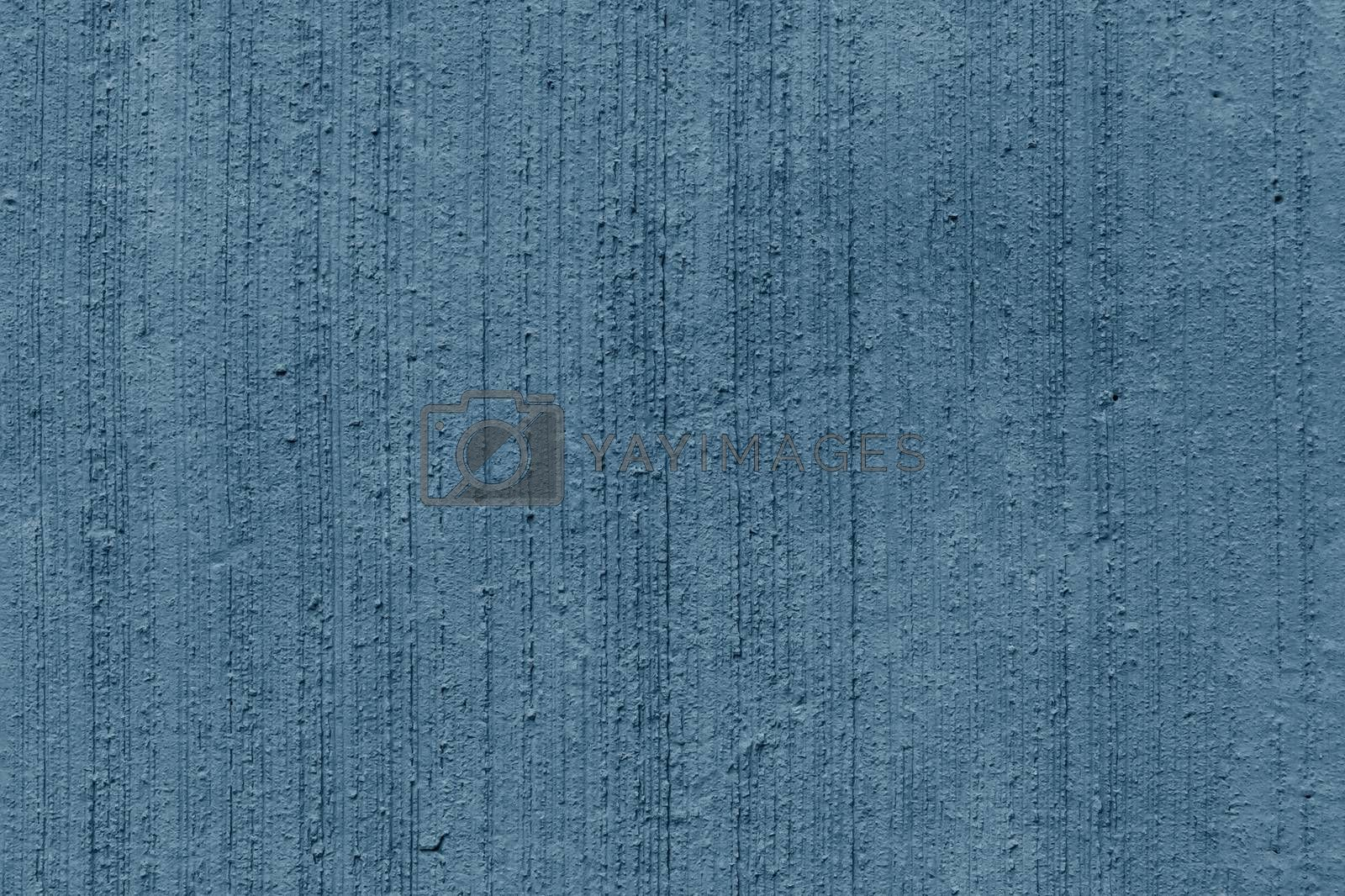 Blue paint plastered concrete wall, texture, background by galsand