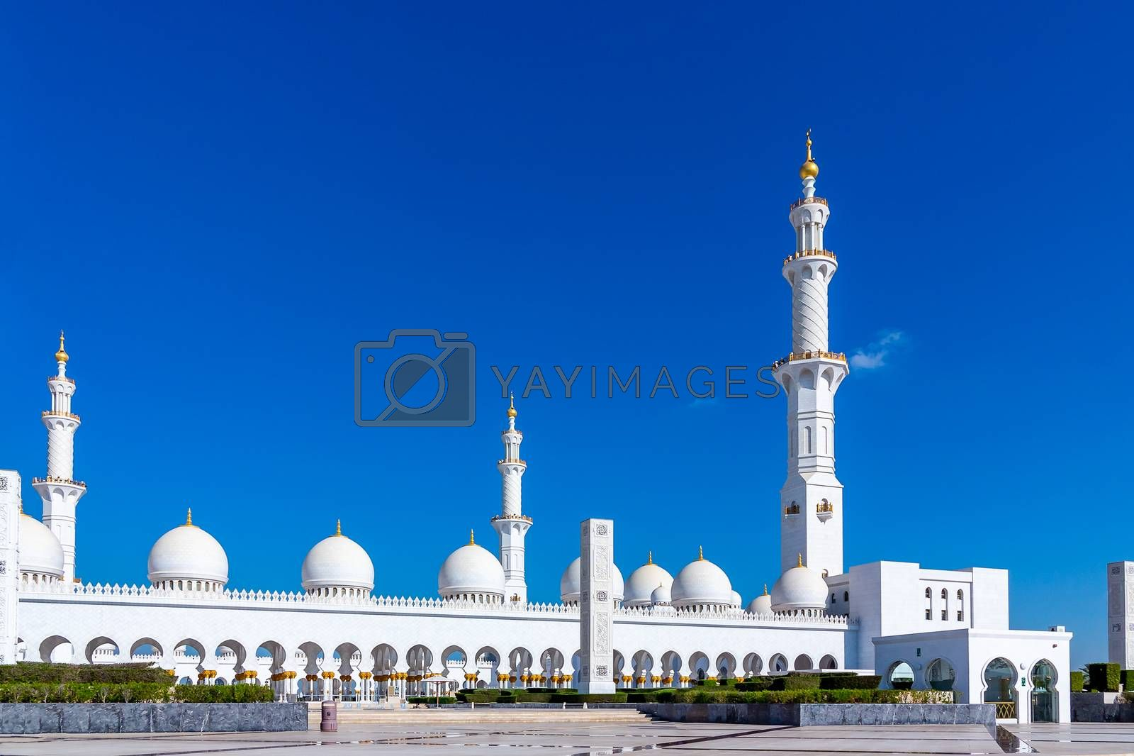 Famous Sheikh Zayed grand mosque in Abu Dhabi, United Arab Emirates by galsand