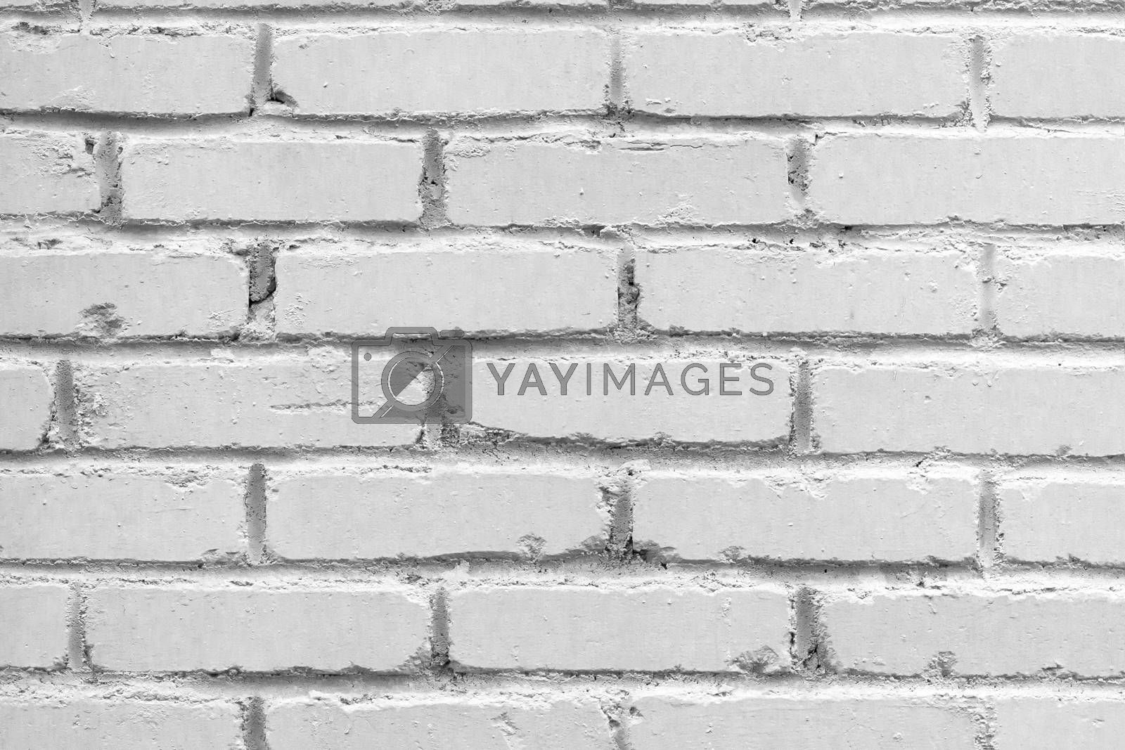 Old brick wall background. Grunge texture. Light surface by galsand
