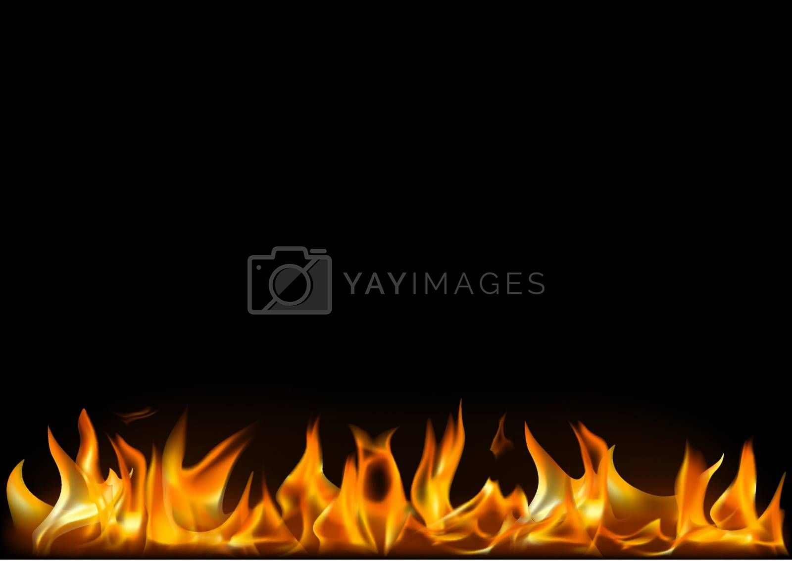 Realistic Fire Flames Background by illustratorCZ