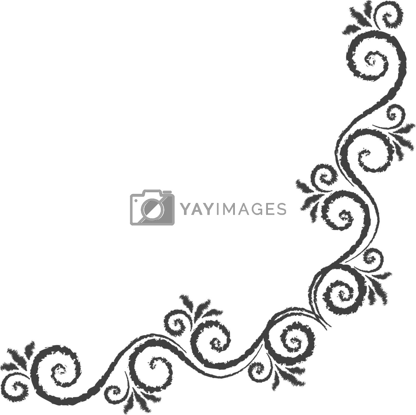 Vector floral ornament by ayax