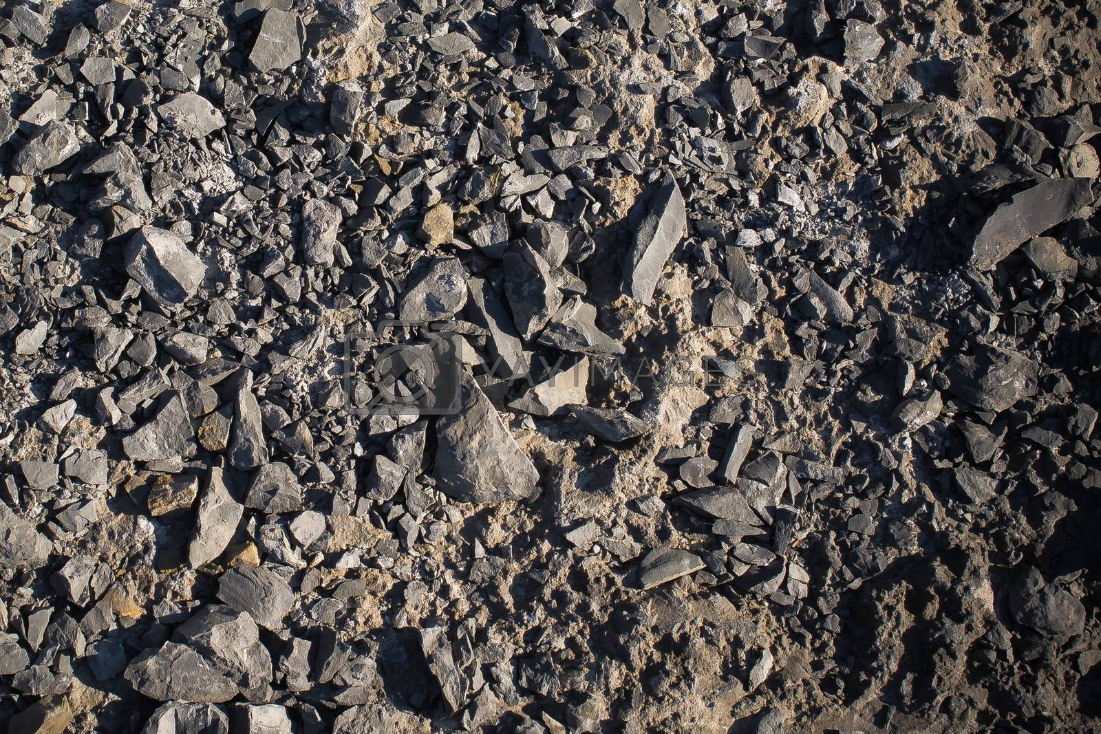 Background texture consist of full of little gravel pebbles