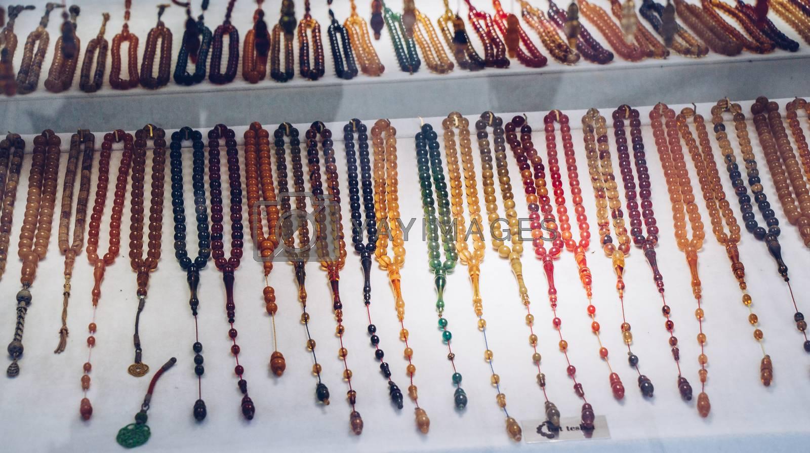 Set of praying beads of various colors