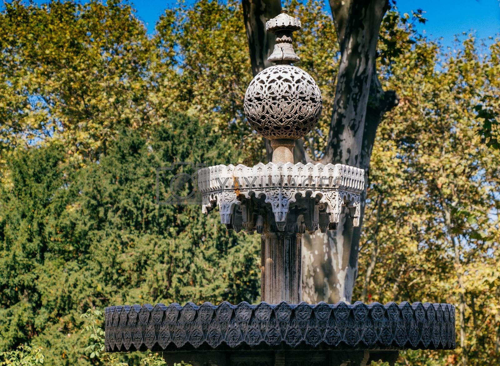 Turkish Ottoman style antique  fountain in view