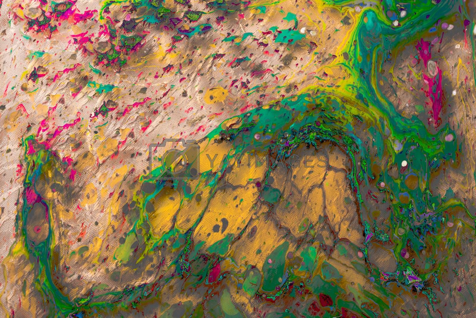 Abstract grunge art background texture with colorful paint splas by berkay