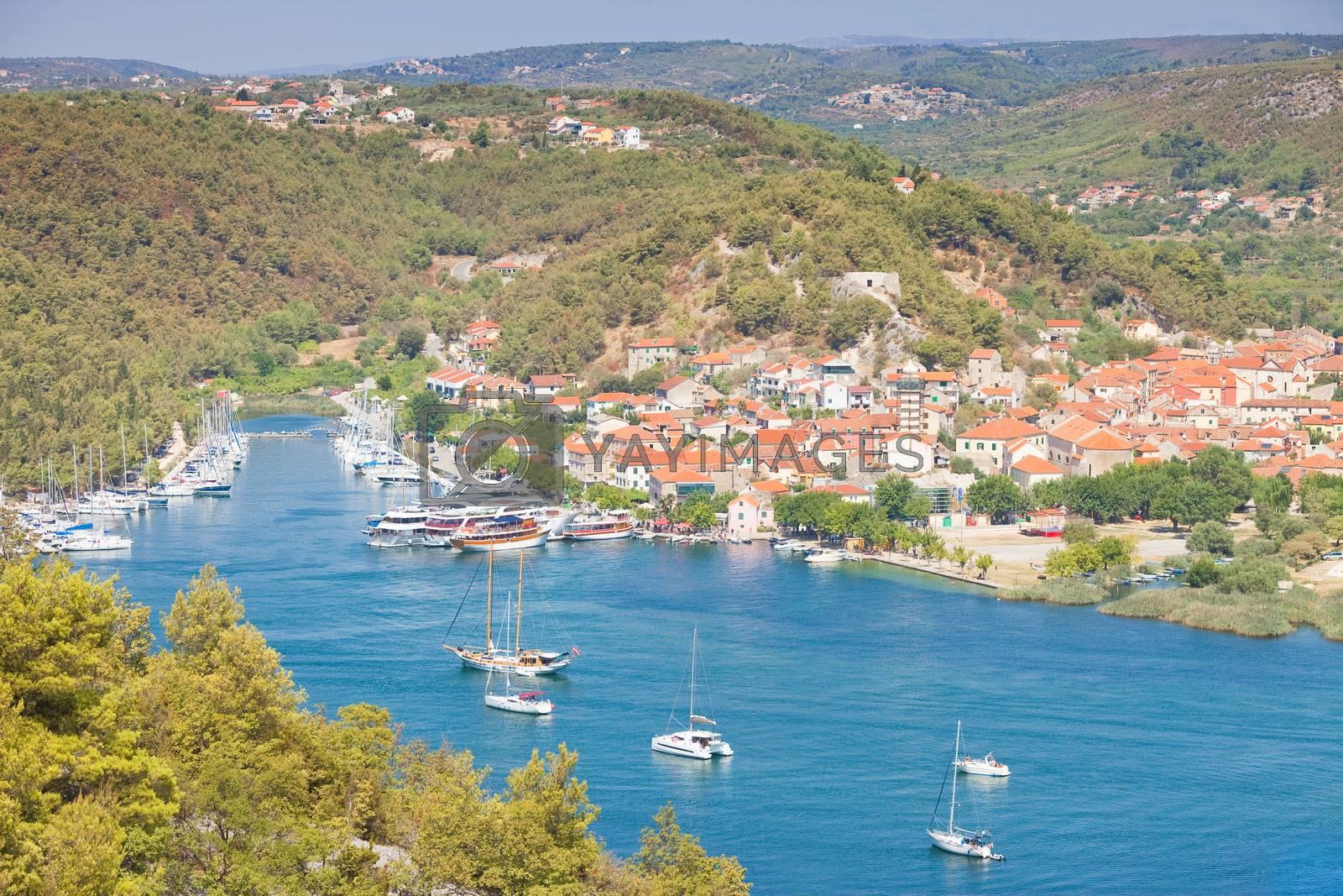 Skradin, Croatia, Europe - Visiting the the beautiful old town of Skradin