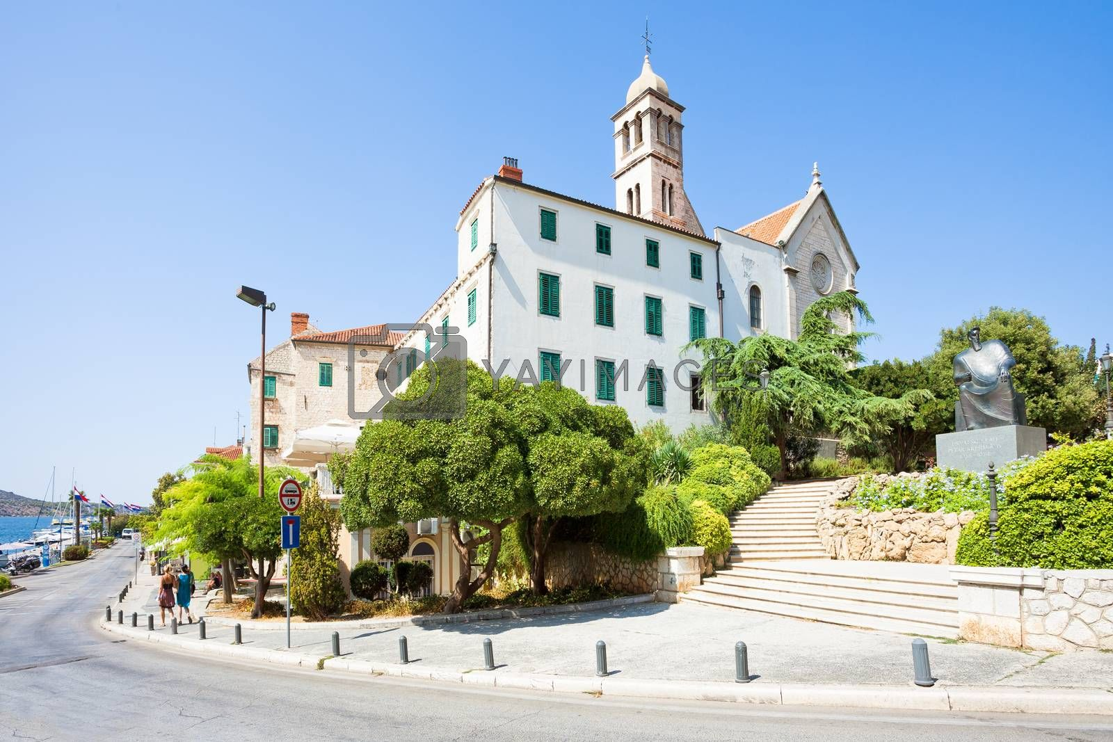 Sibenik, Croatia, Europe - Walking down to the promenade of Sibenik