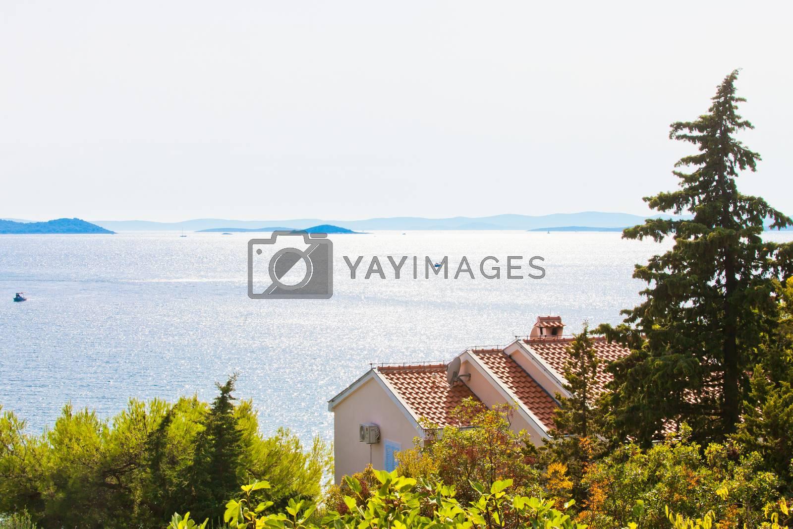 Drage, Zadar, Croatia, Europe - Beautiful backlight at the coastline of Drage