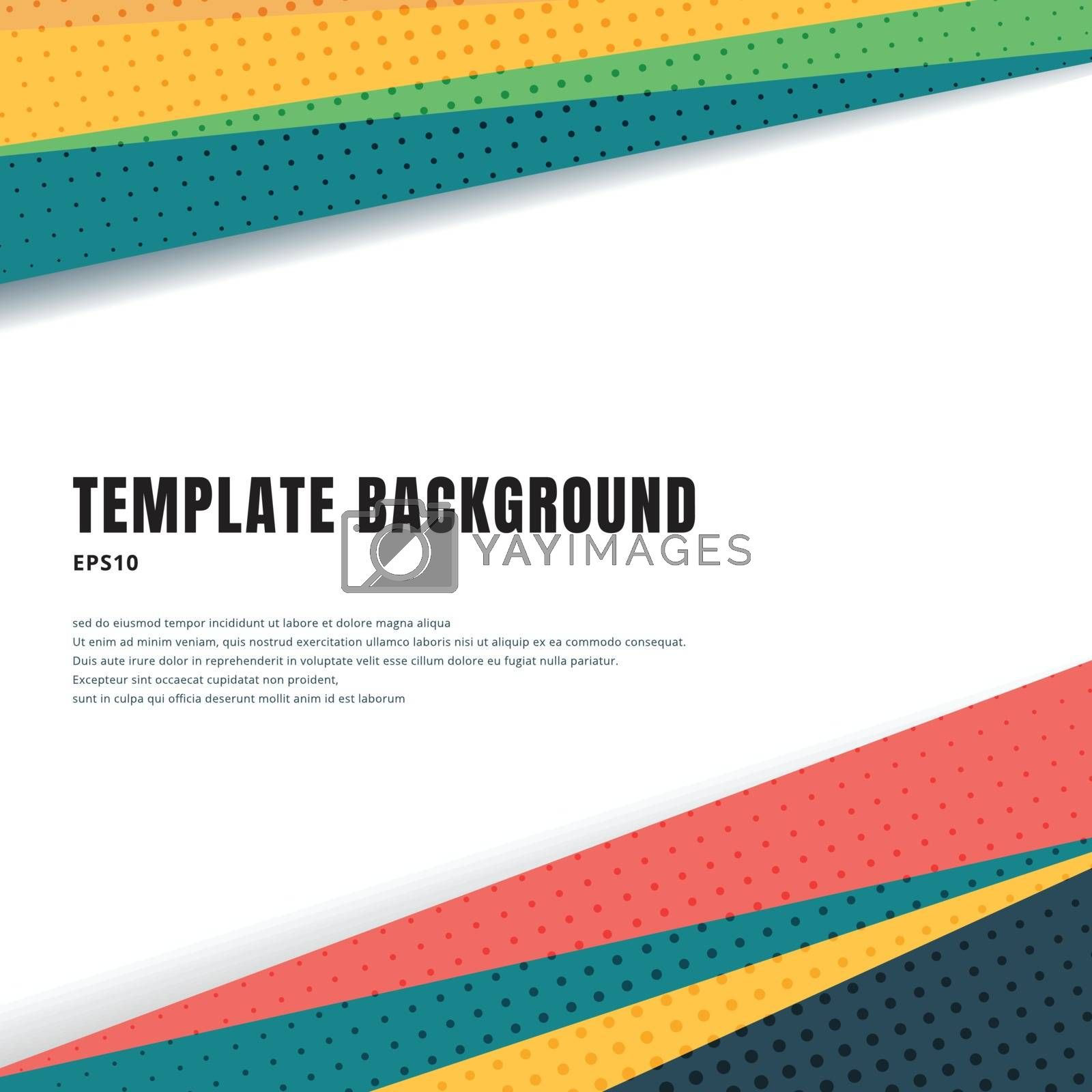 Abstract template header and footers colorful geometric triangle by phochi