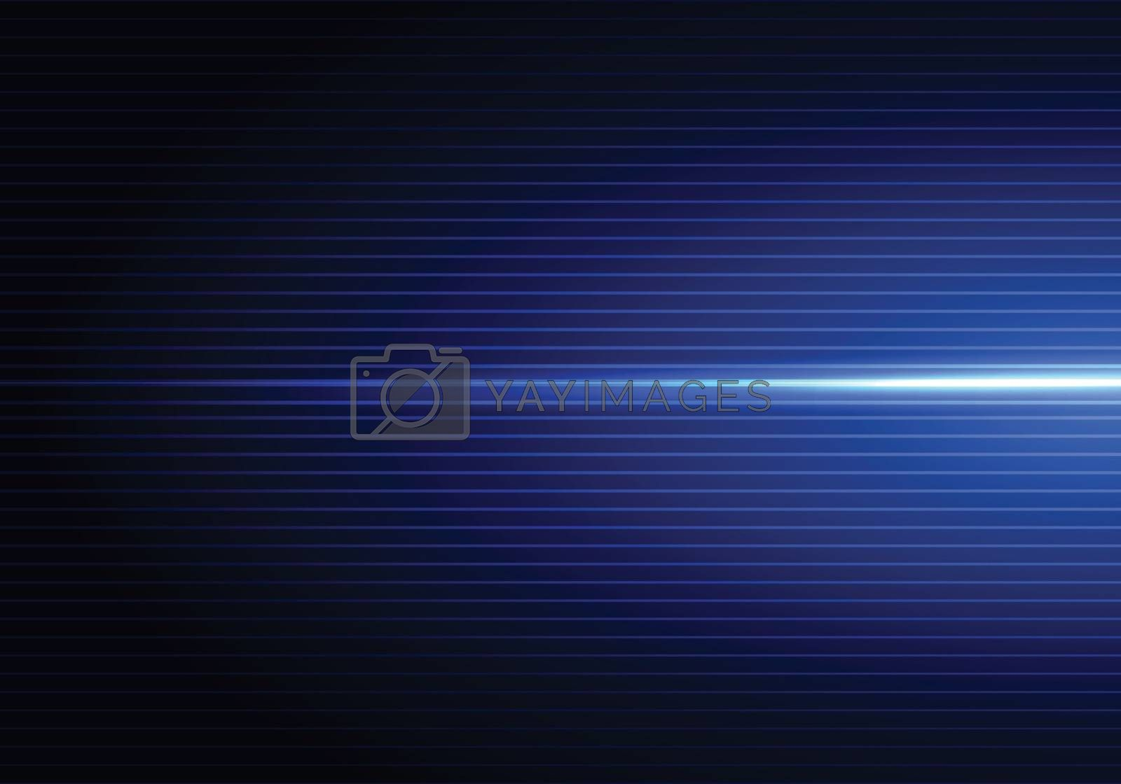 Abstract dark blue background with horizontal light and shadow wallpaper. Vector illustration