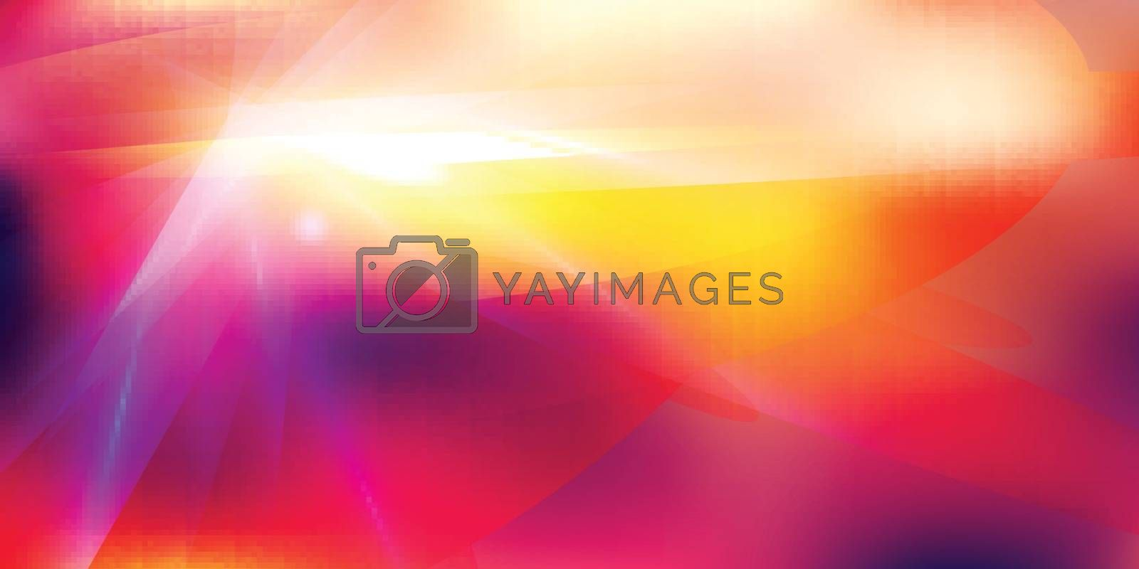 Abstract futuristic lighting effect on red color tone background. Colorful lens flare, star, explosion and electric power design. Vector illustration
