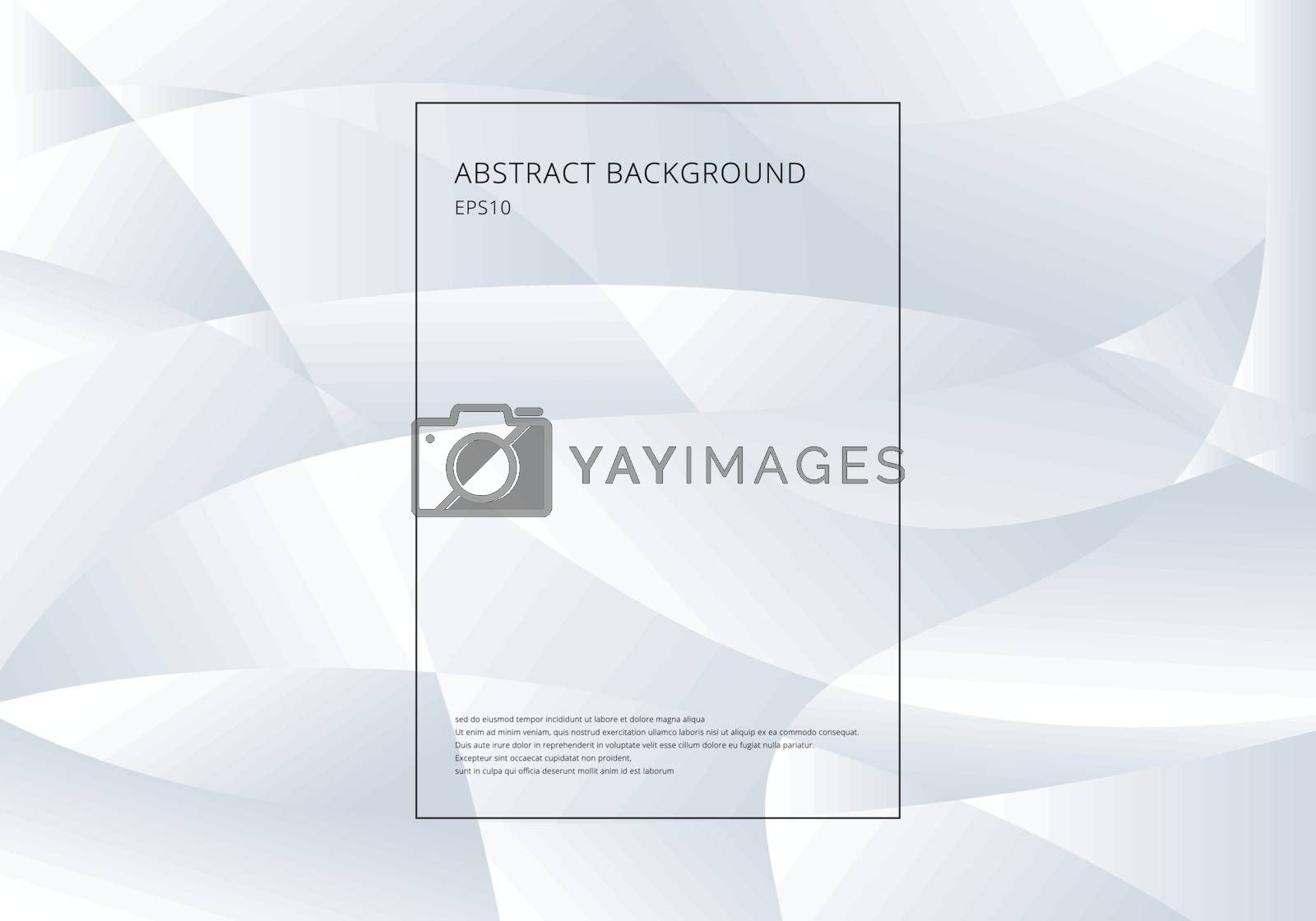 Abstract white and gray gradient color curve background. Technology modern futuristic style. Vector illustration