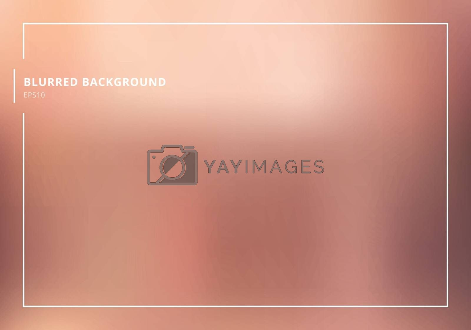 Abstract rose gold gradient blurred background. luxury style.  You can use for template brochure, bwnner web, poster, leaflet, flyer, presentation, etc. Vector illustration