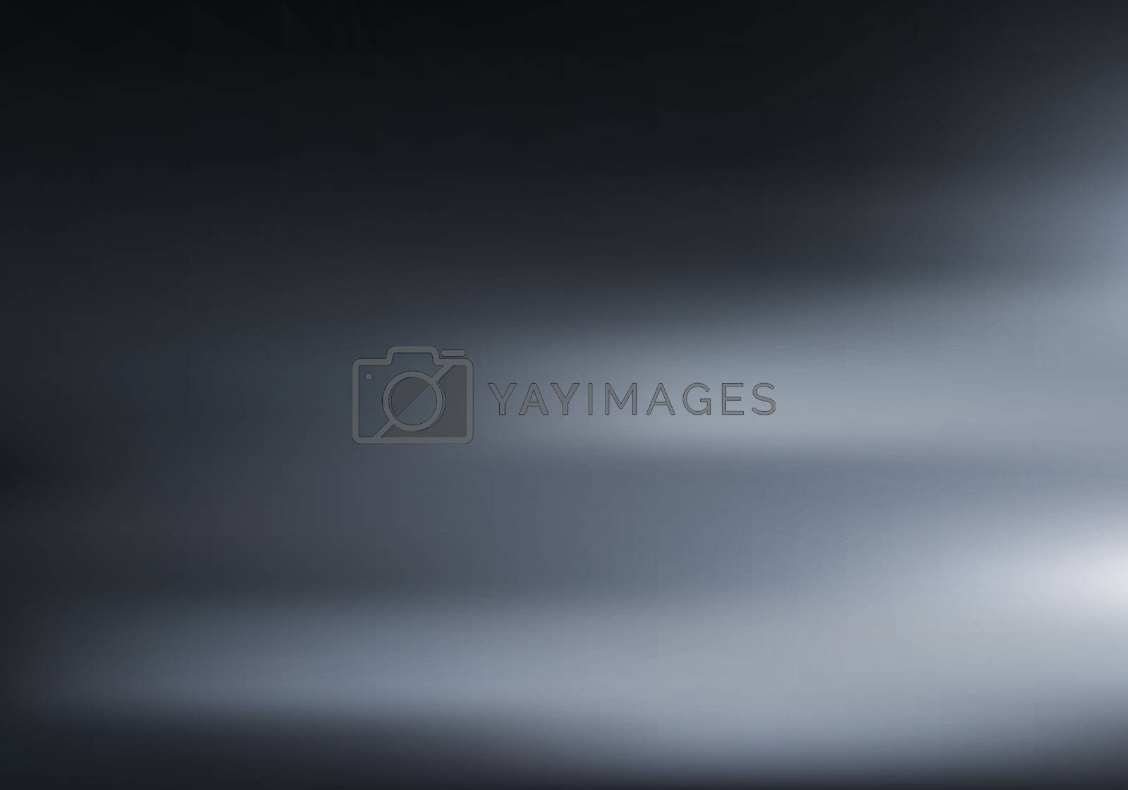 3D Black room with low light and shadow on dark background. Night illumination on wall and floor texture. Motion blurred background. Vector illustration